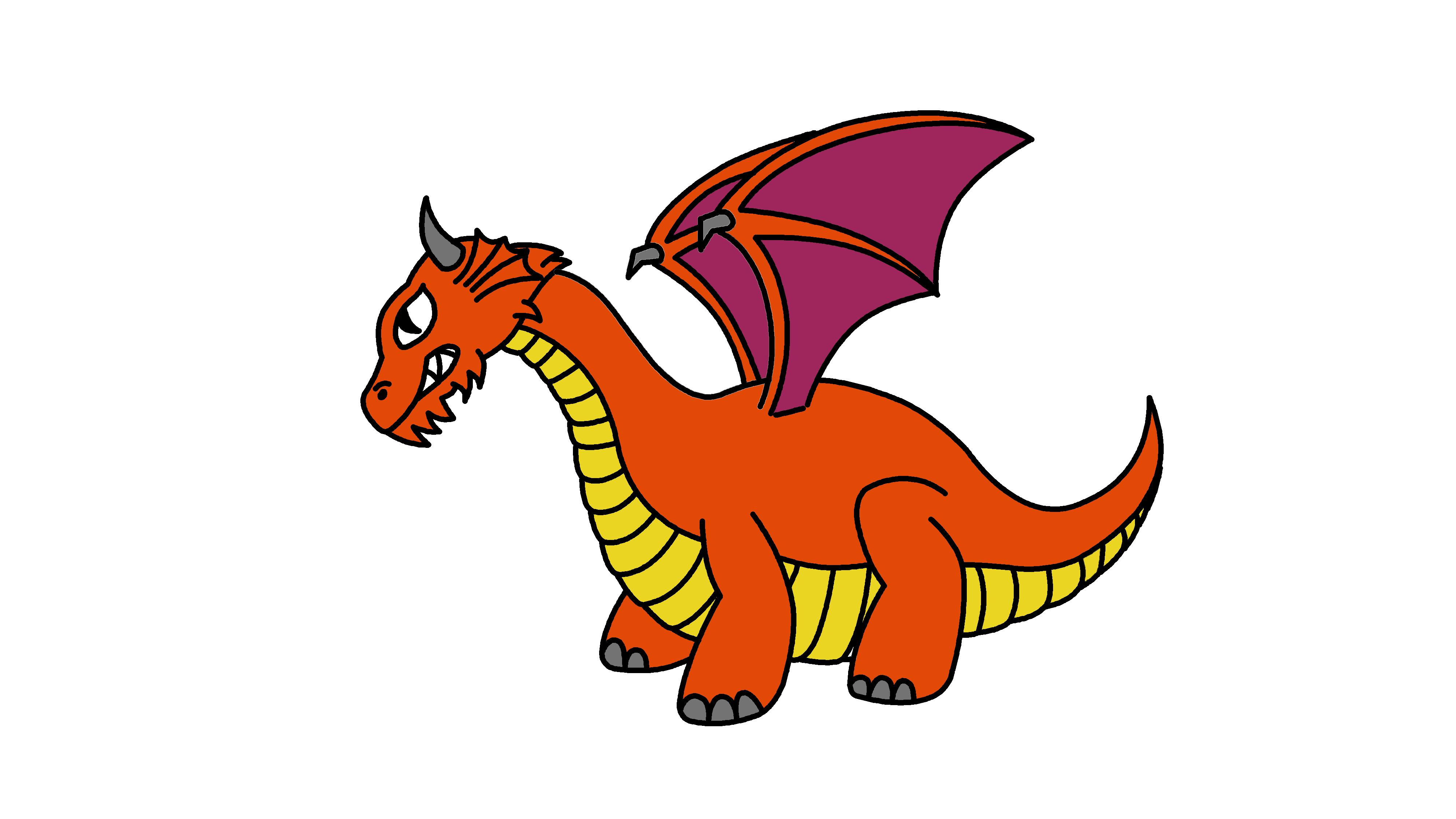 Cartoony dragon