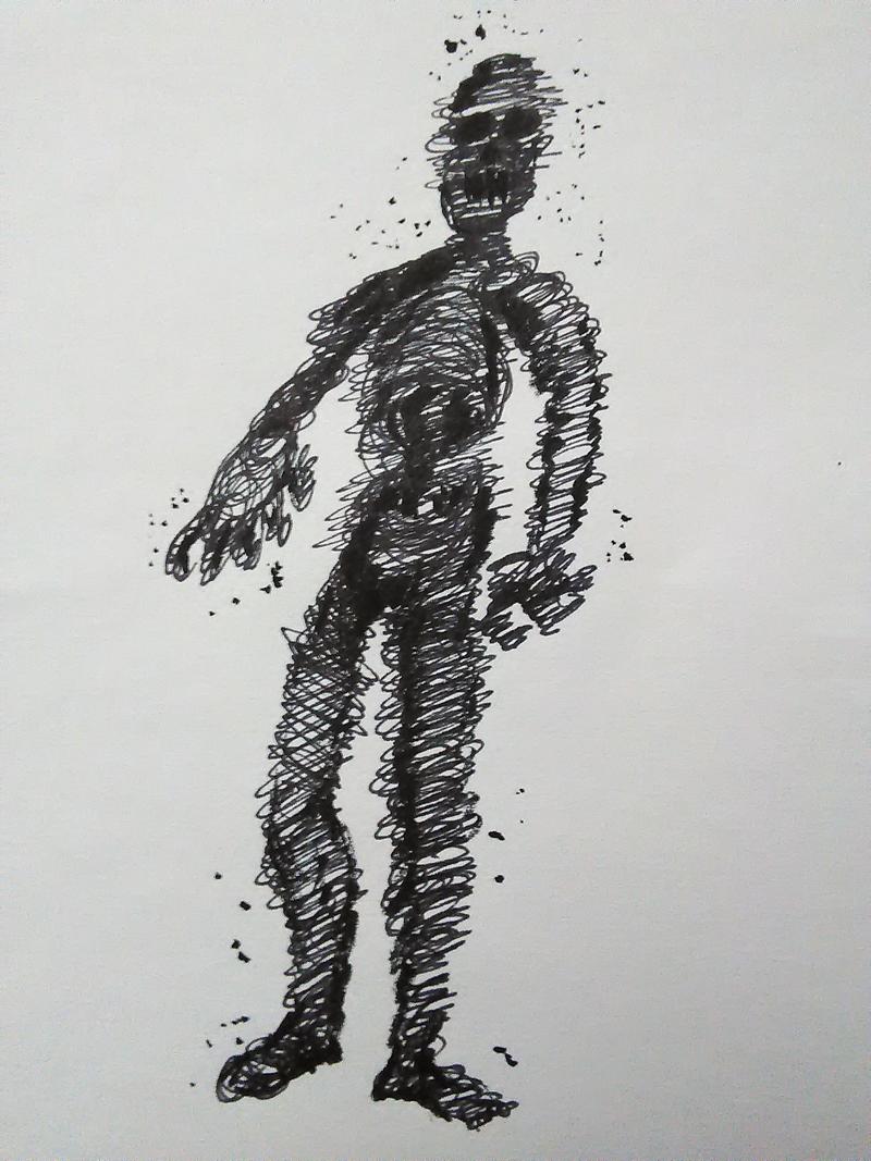 Inktober 4: Black Ghost