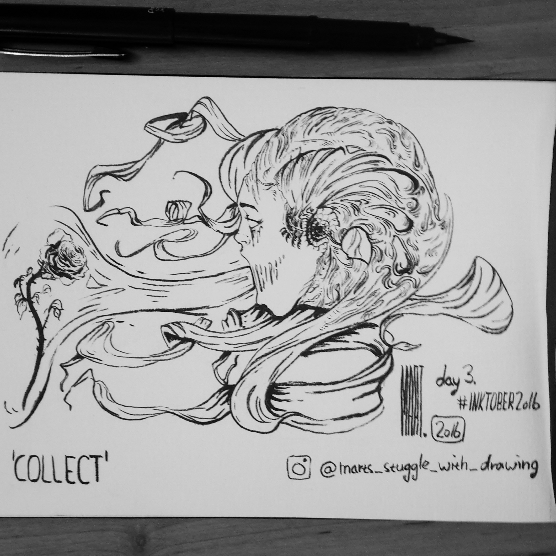 Inktober 2016 day 3 'COLLECT'