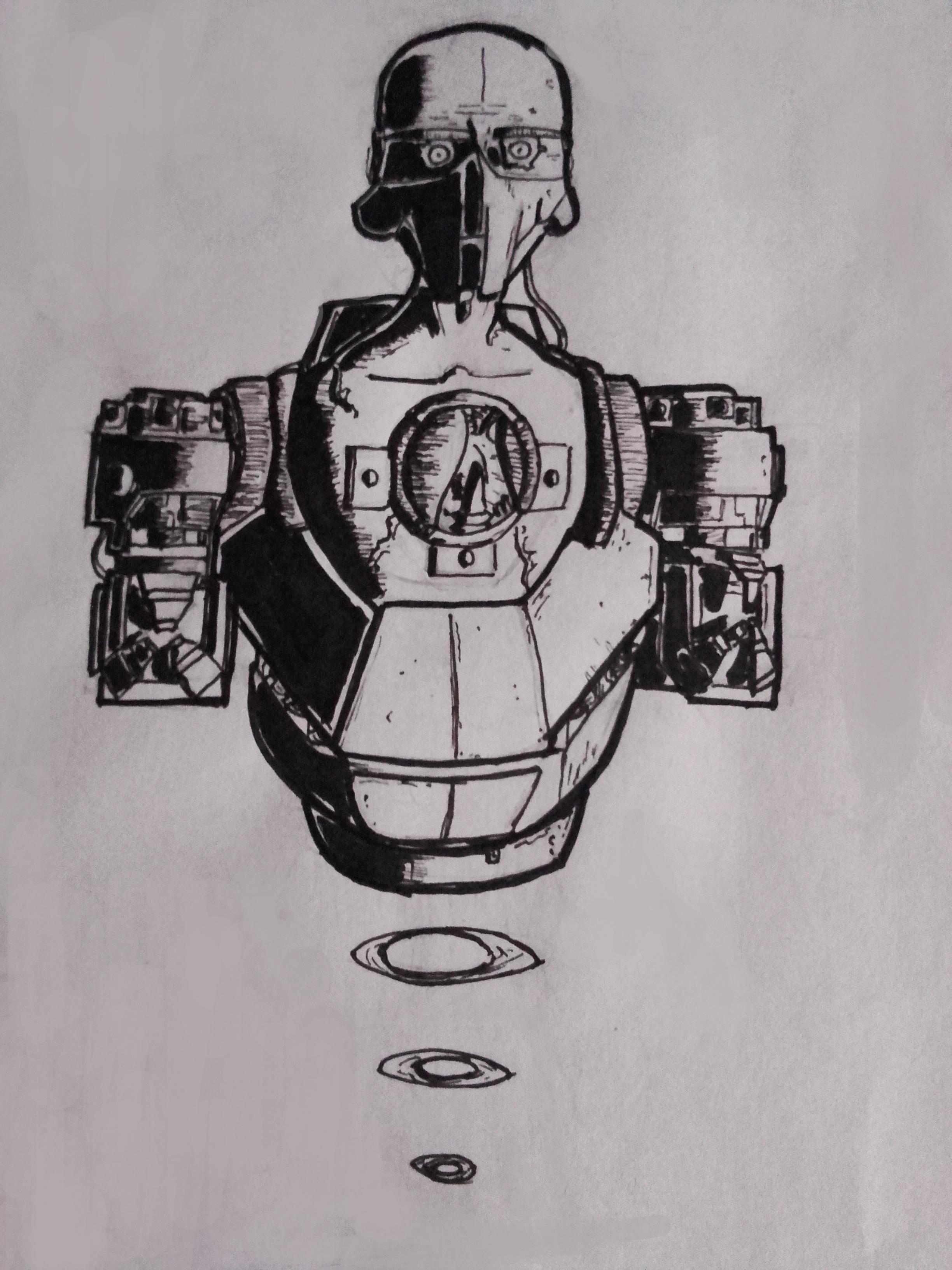Cyborg concept art