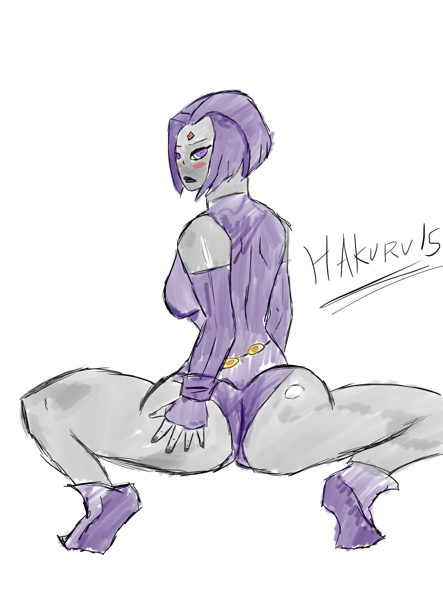 Raven Booty Pinup