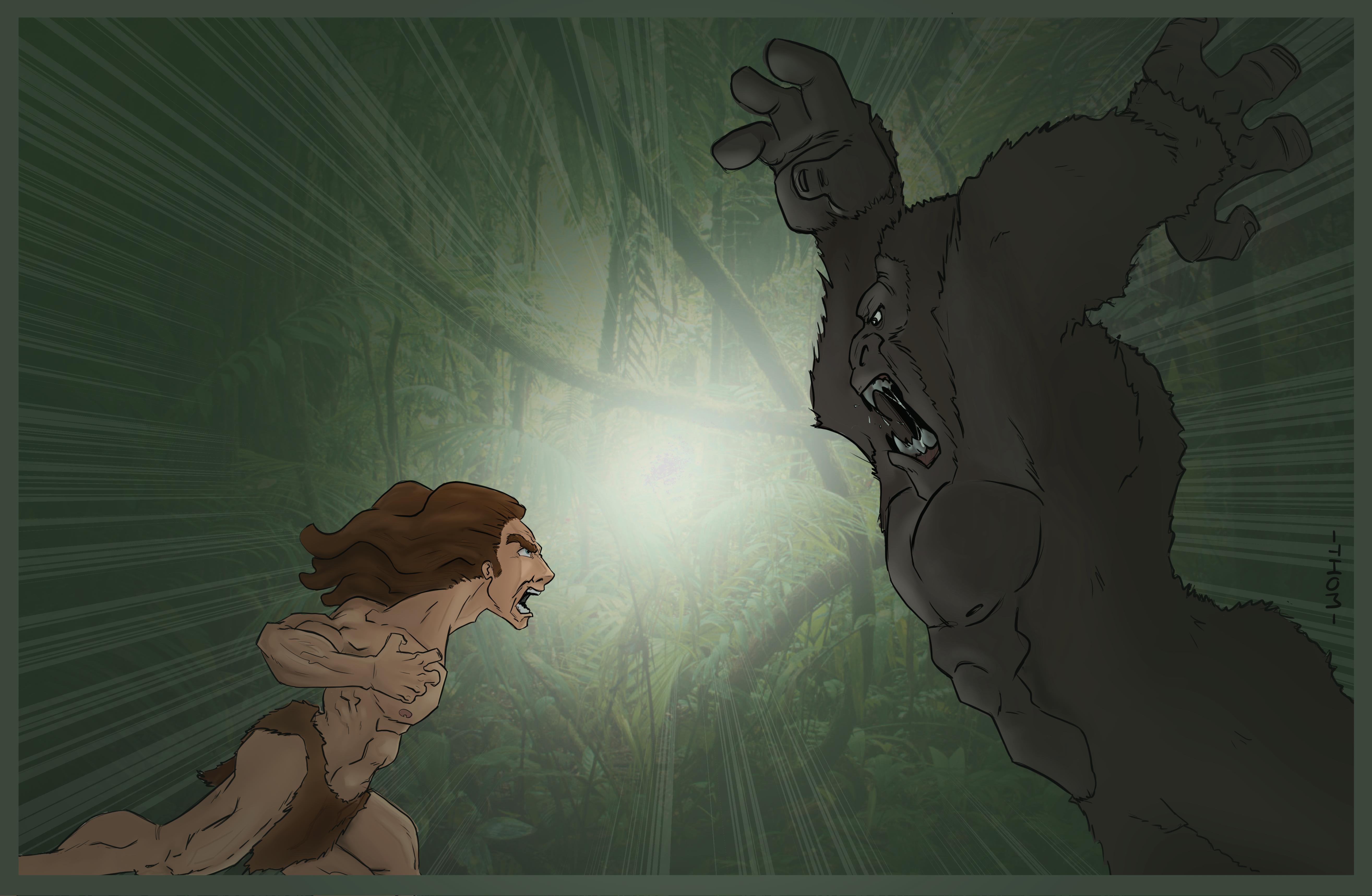 tarzan vs gorilla