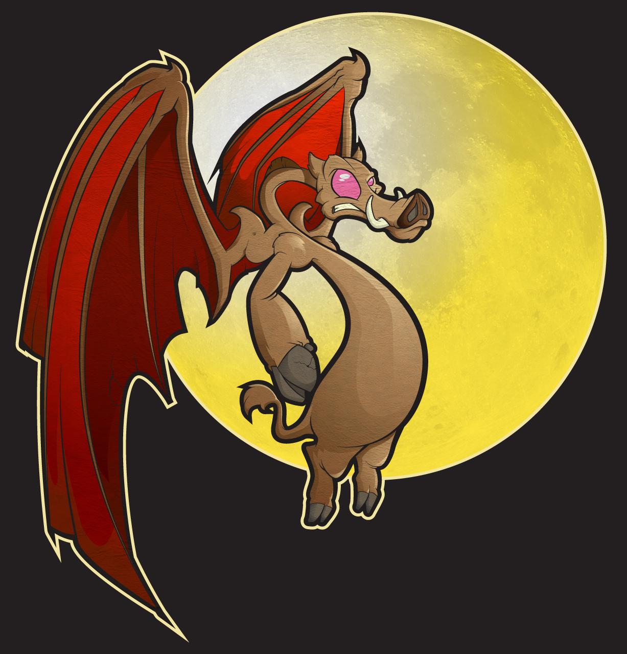 Flying pig - evil version