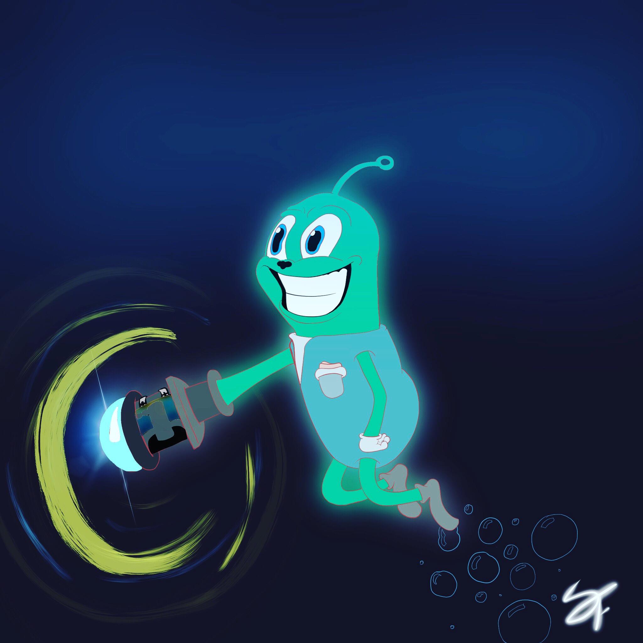 cartoon alien dude!