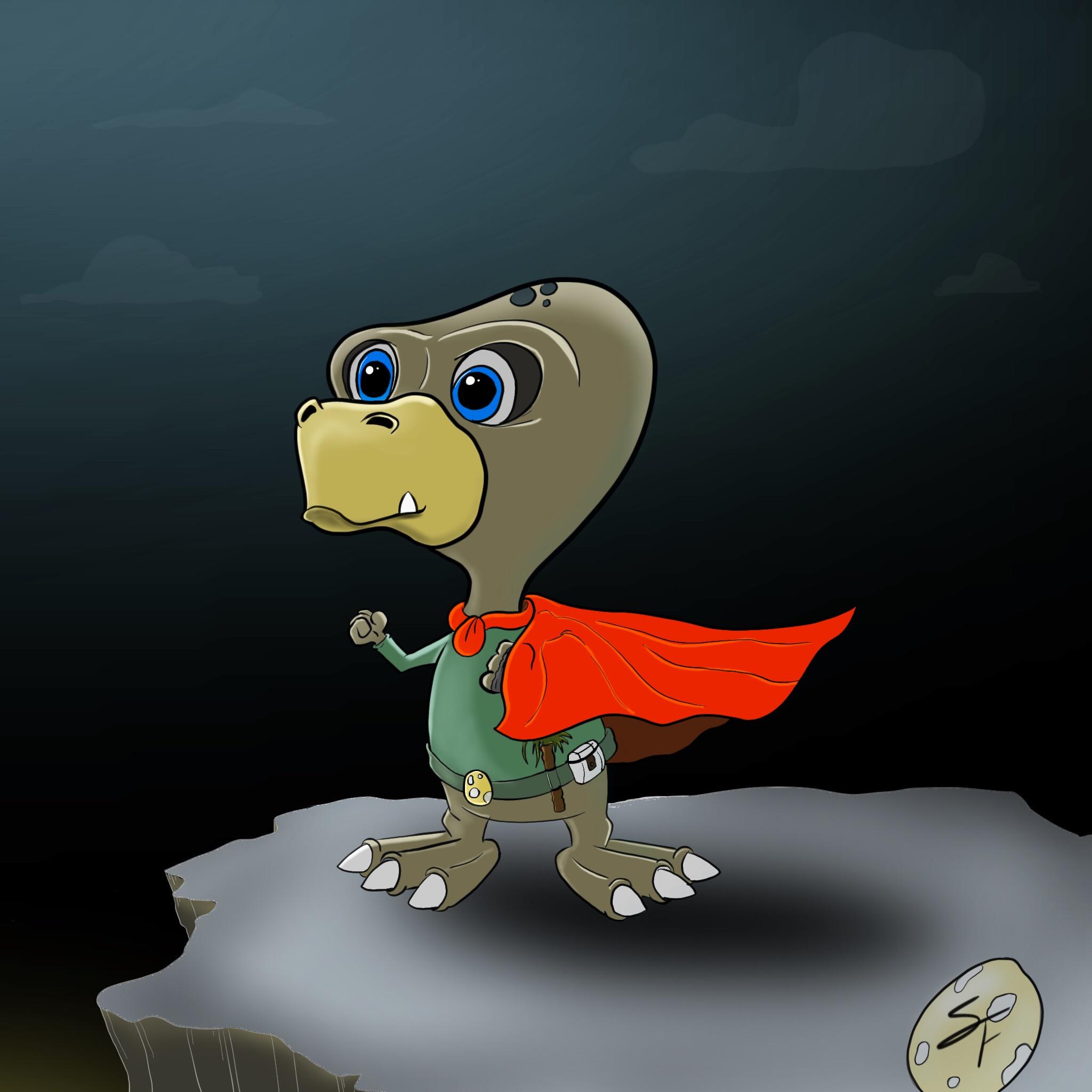 Dinosaur superhero