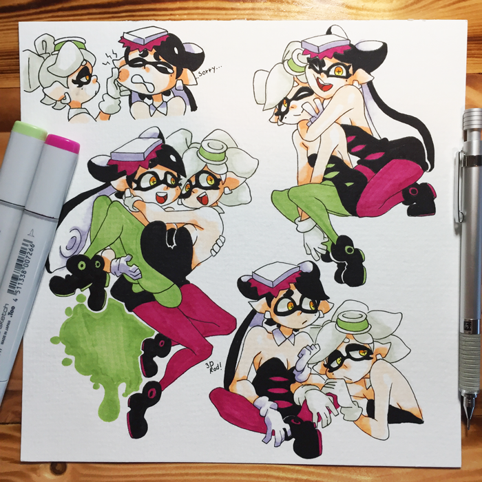 Inktober day 16 - Squid Sisters