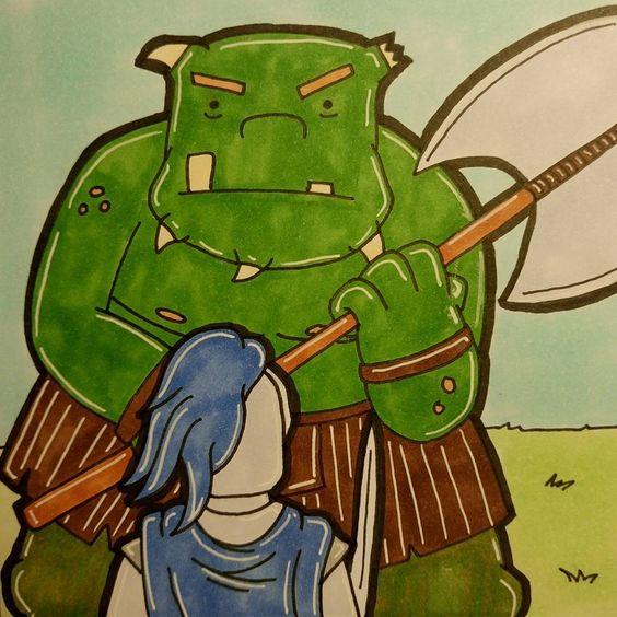 Inktober Day 17 Battle