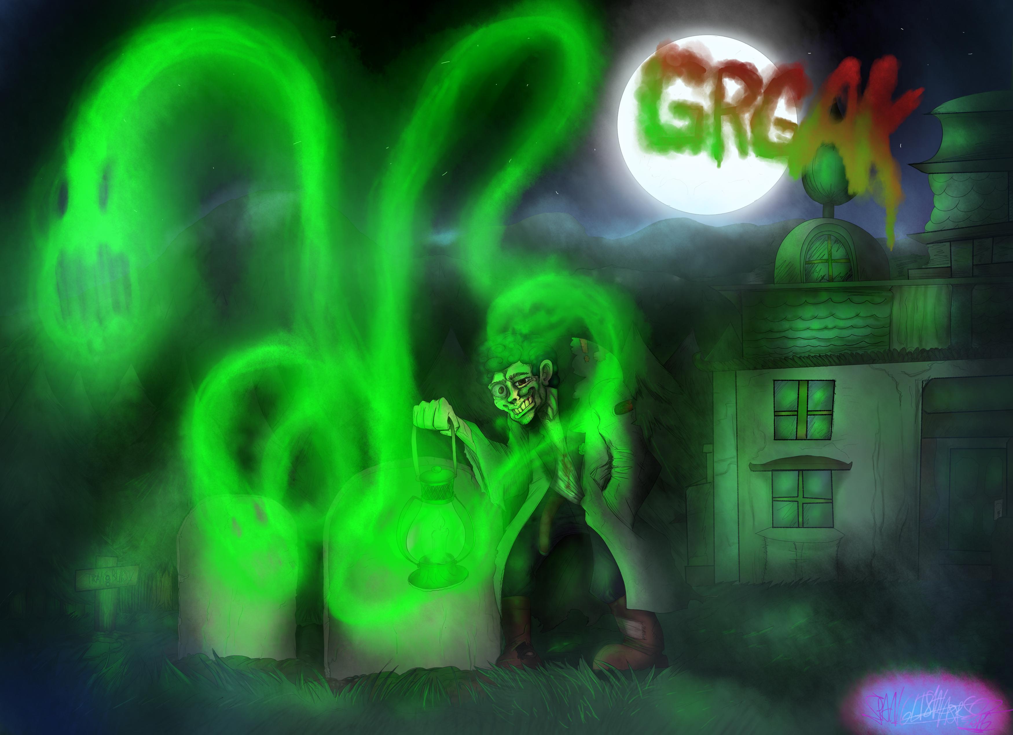 Grgak spooky art (Commission)