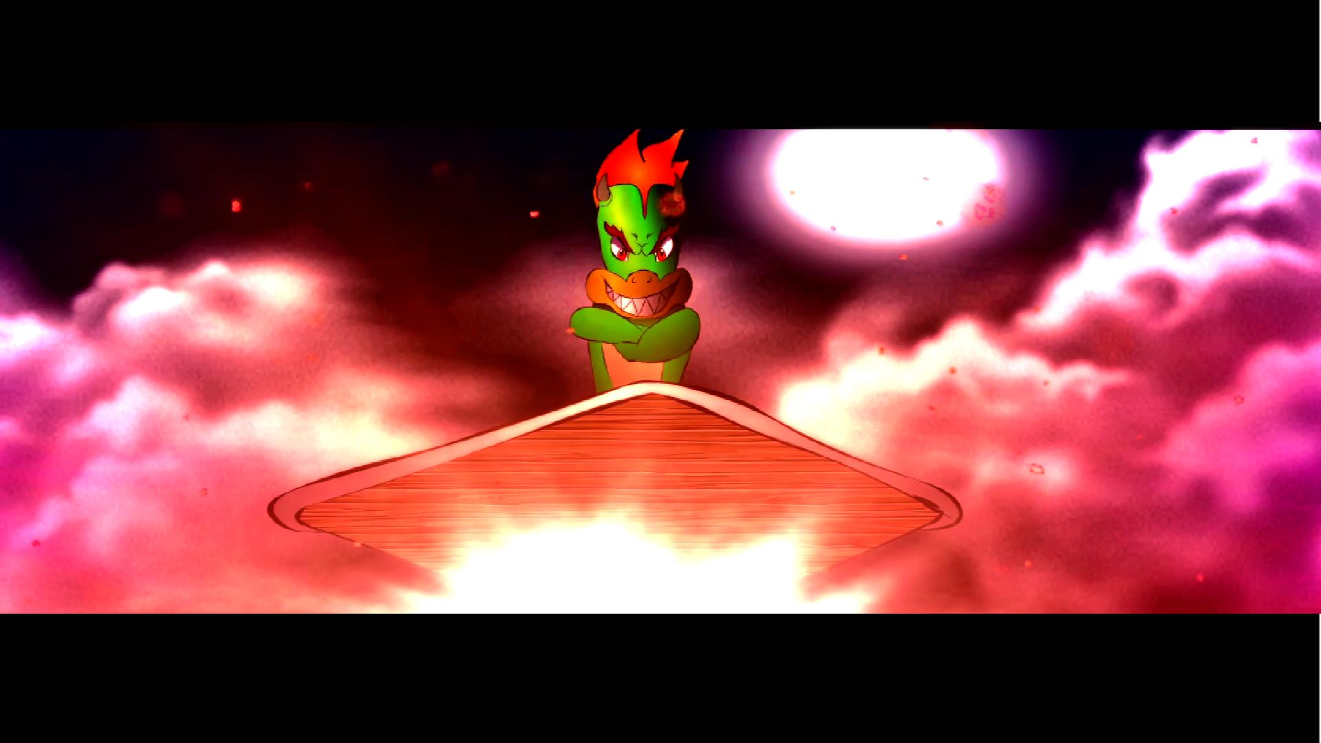 Super Mario Bros vs Black Goku Scene11 Bowzer's arrival