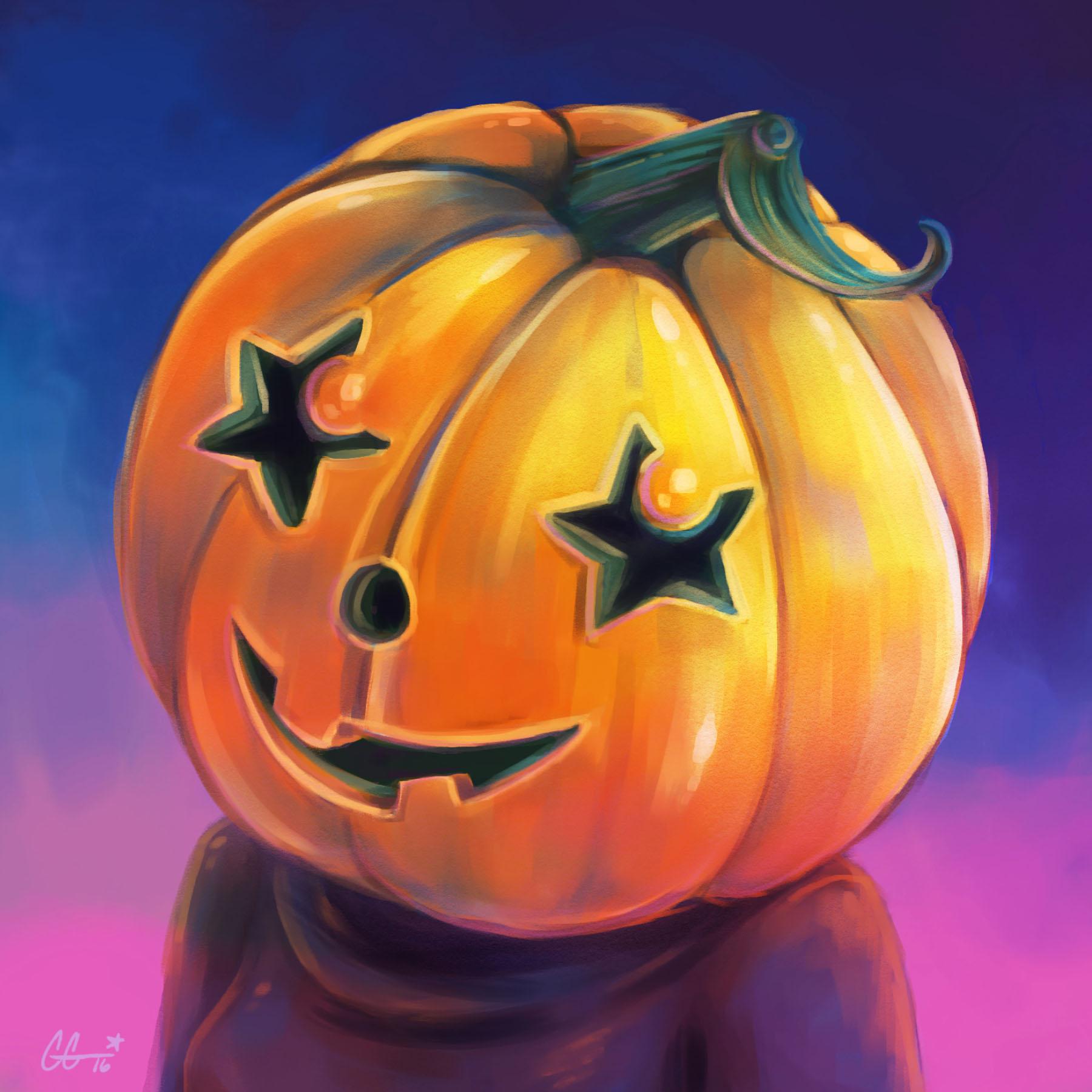 Pumpkin Head Halloween Portrait 2016