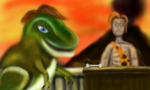The Bone man o Dino:Made on a 3DS