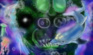 Ecco The Dolphin Fan Art: Made on 3DS