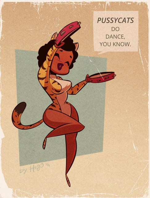 Valerie - Josie and the Pussycats - Cartoon PinUp