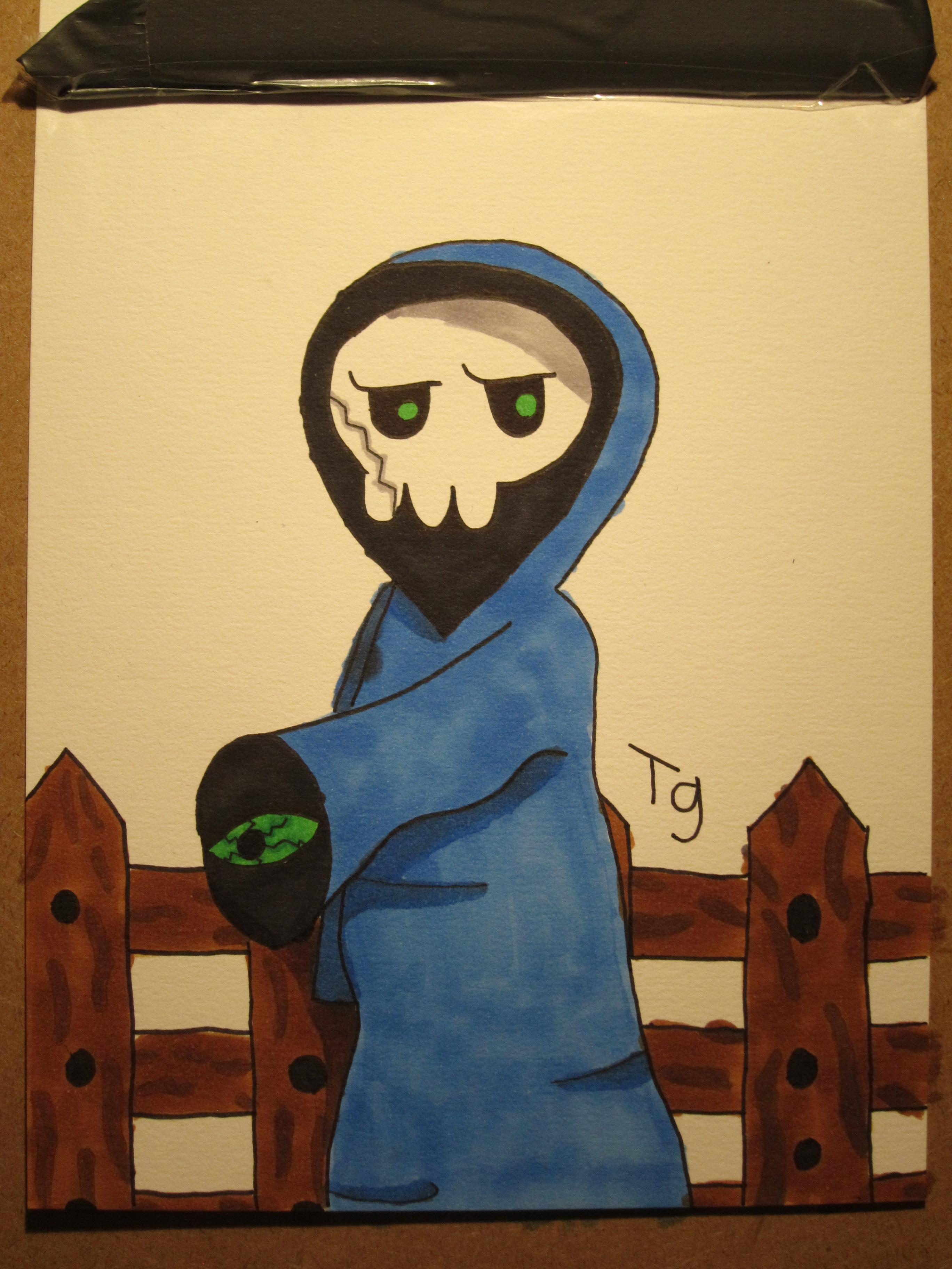 spooky skull guy