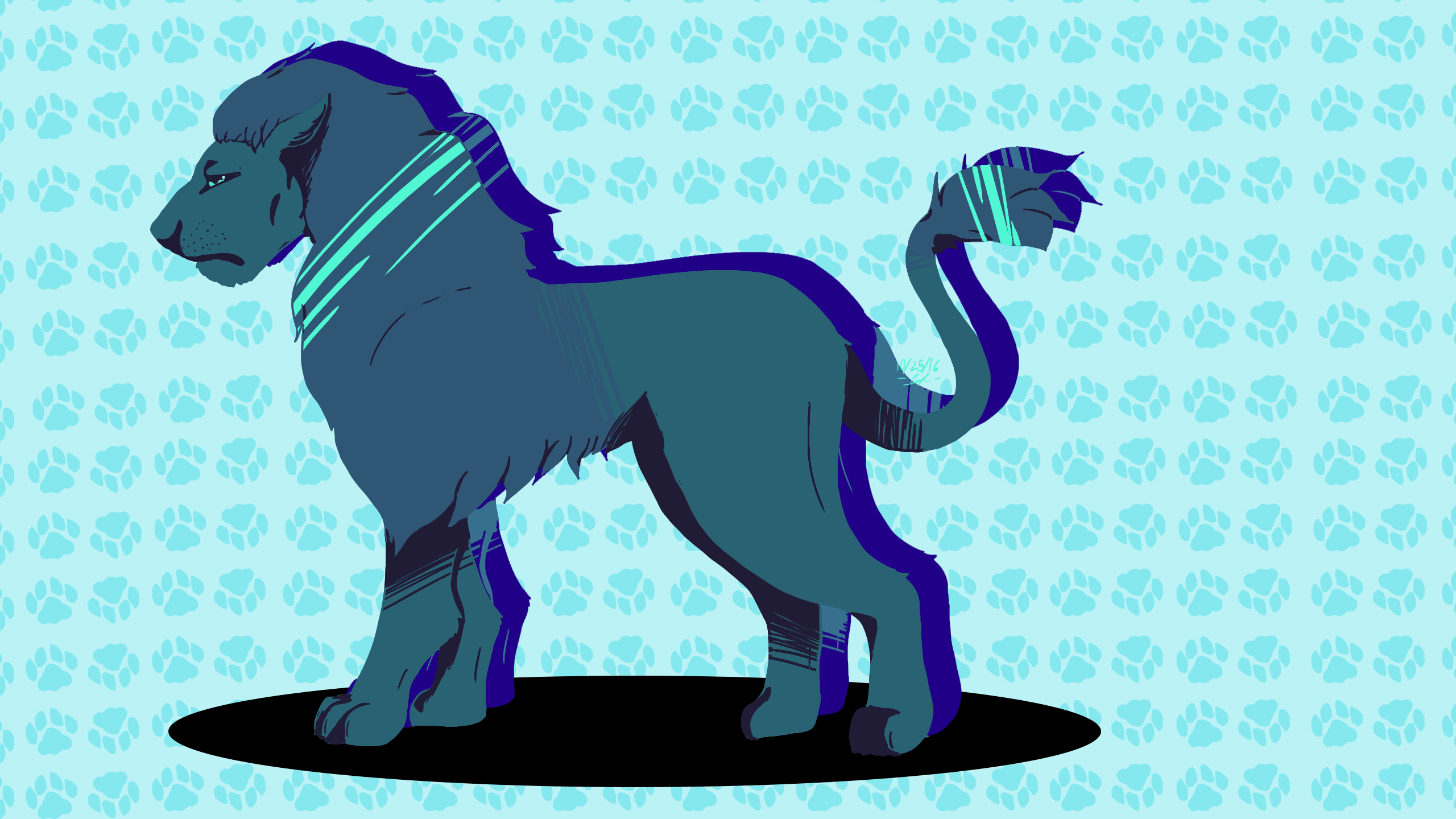 Palette Challenge 1: Blue Color -Lion-