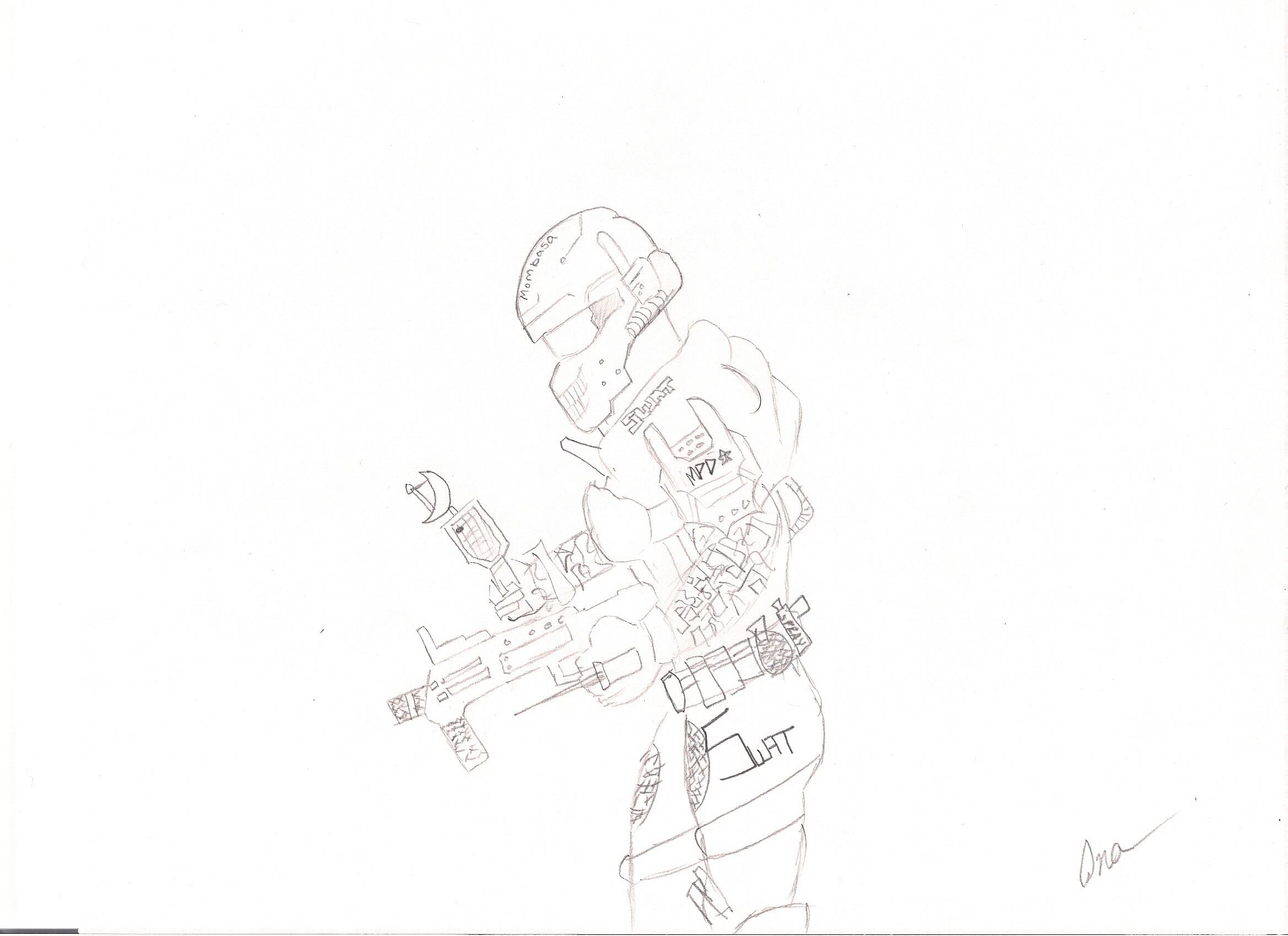 Halo Mombasa Swat Team Sketch