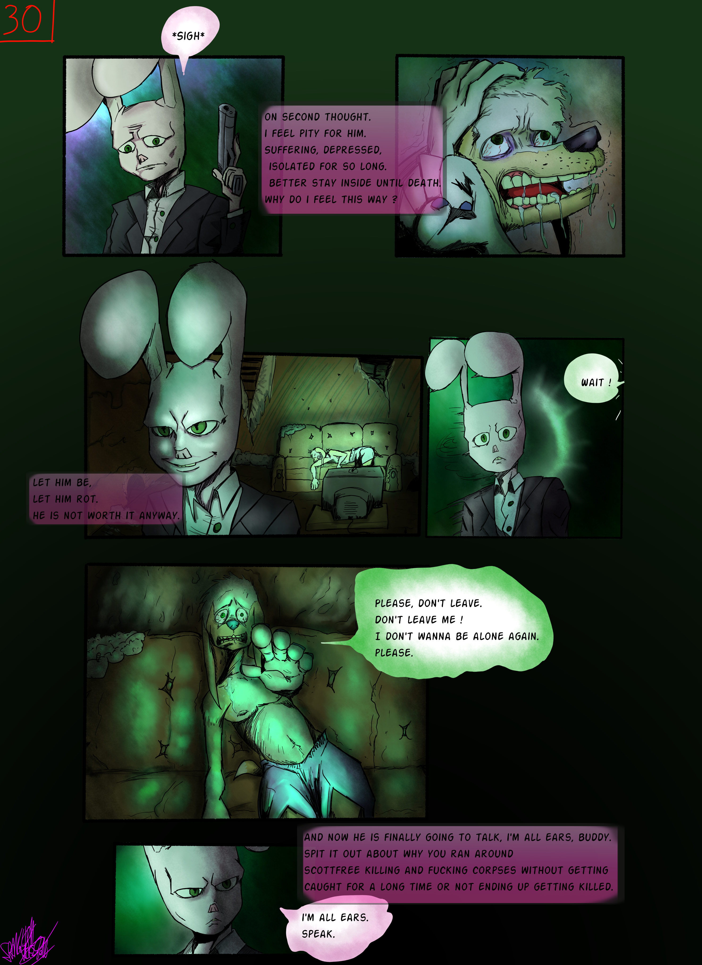 Bob the Psycho Rabbit Vs Alfred Alfer Page 30 (comic) (30/39)