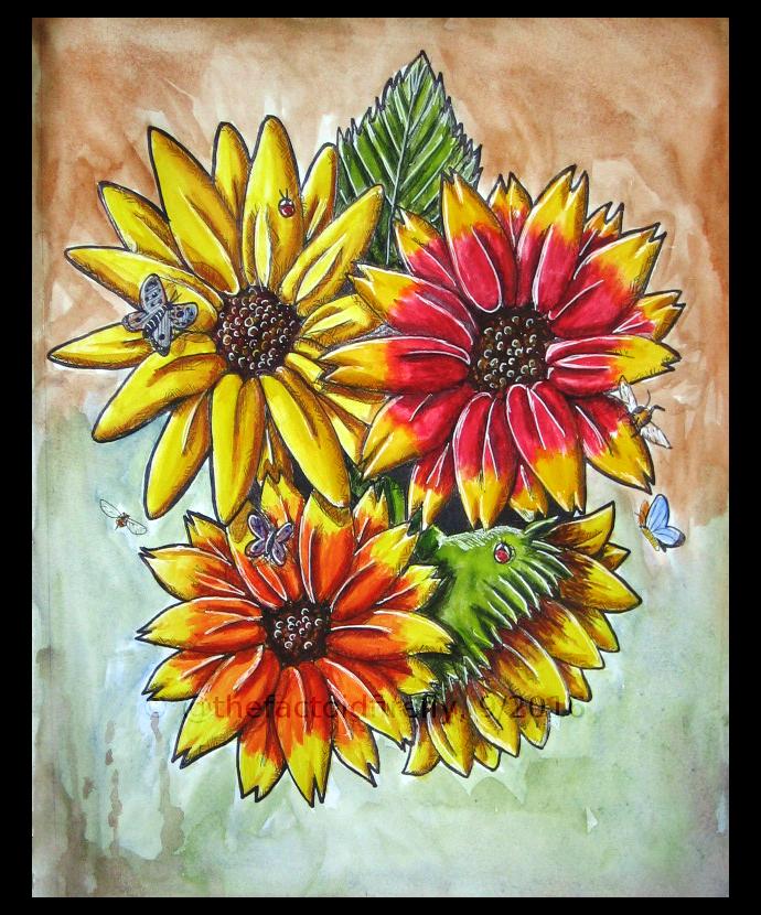 Sunflower Cluster