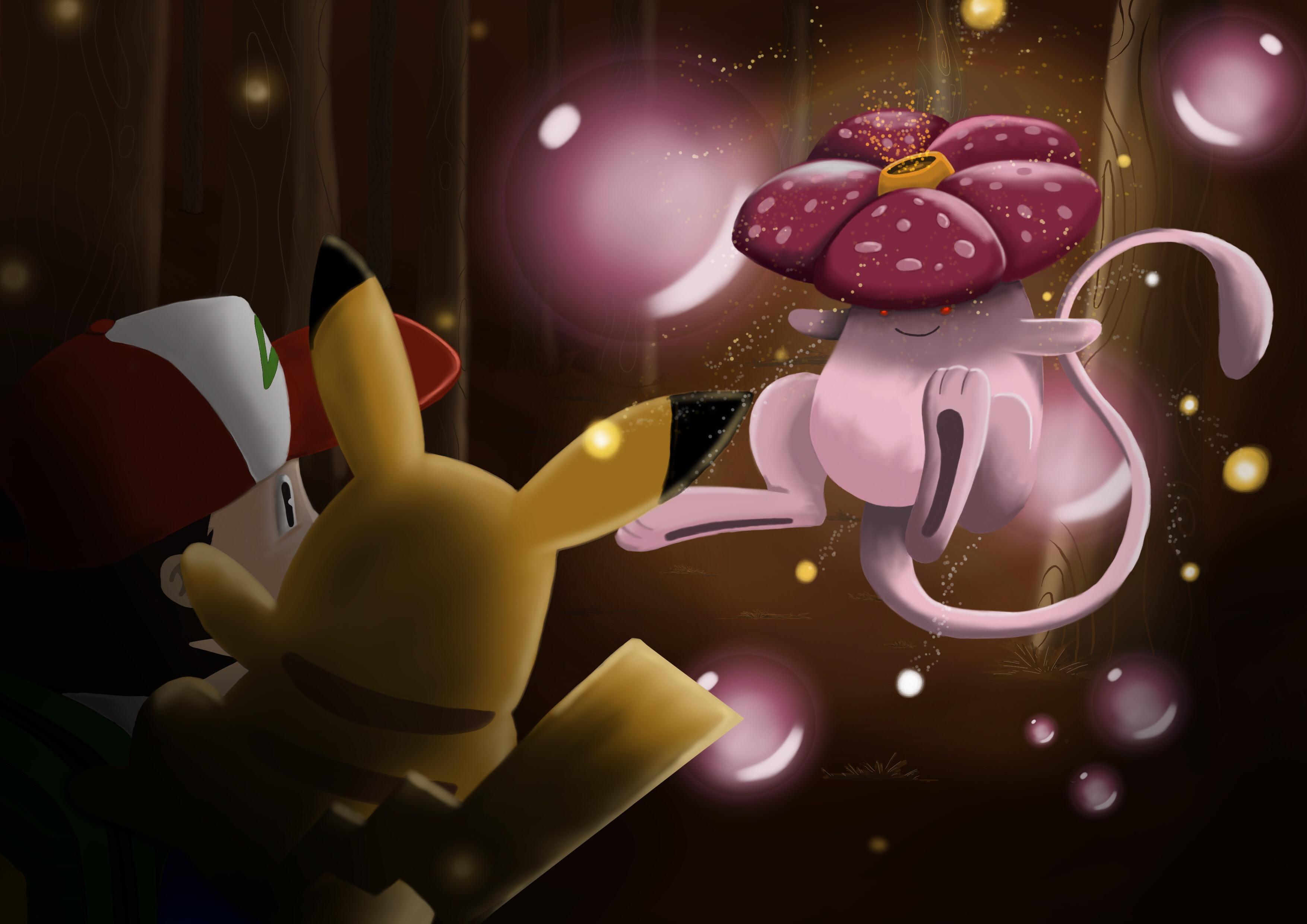 Vileplume + Mew = Vileplumew
