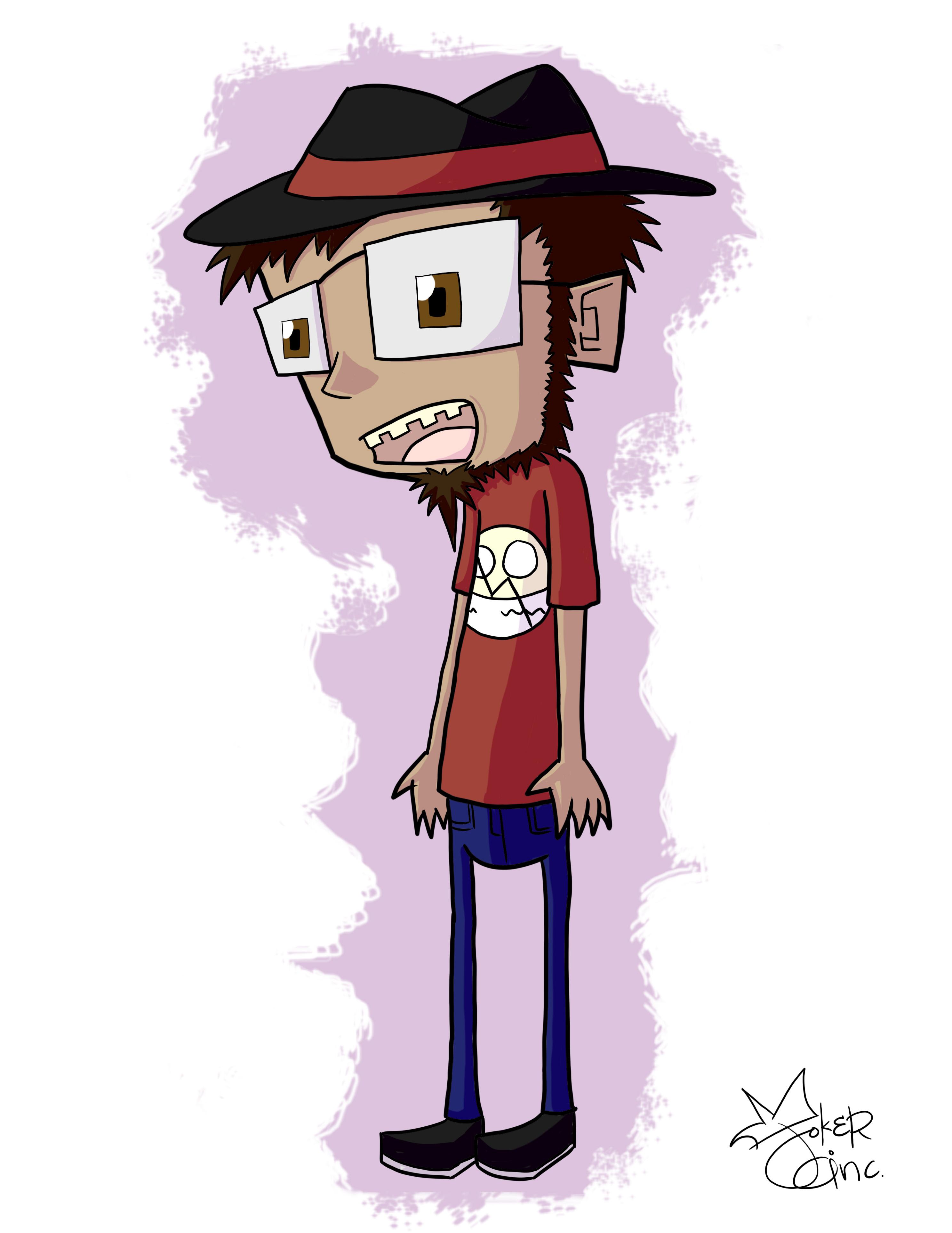 Self Portrait: Invader Zim Style