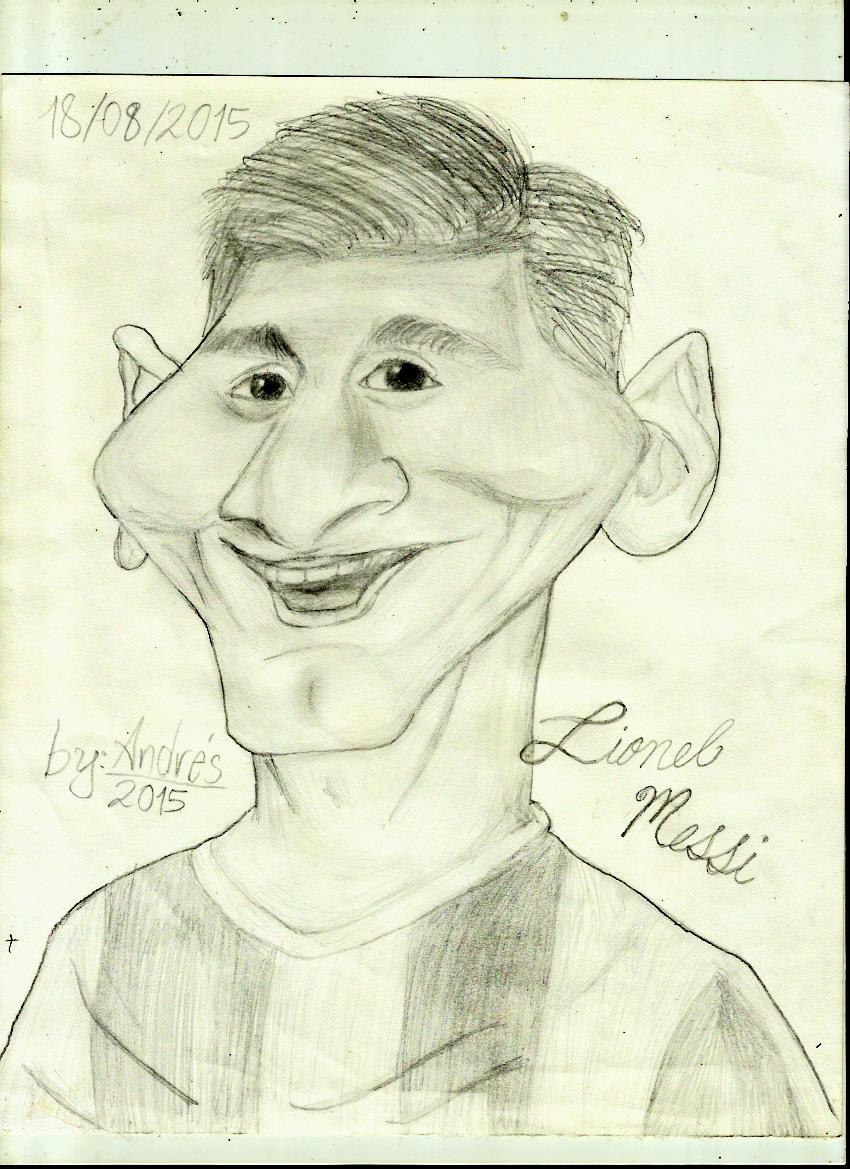 Lionel Messi Caricature version
