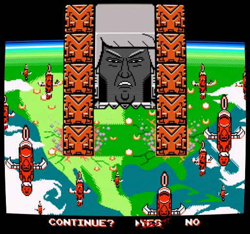 Donald Thwomp makes America Kaizo again...