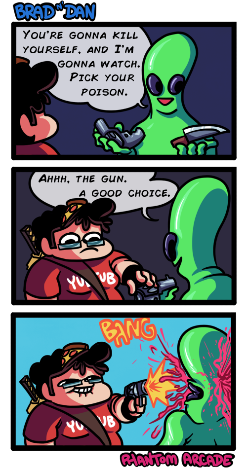 Brad meets an Alien