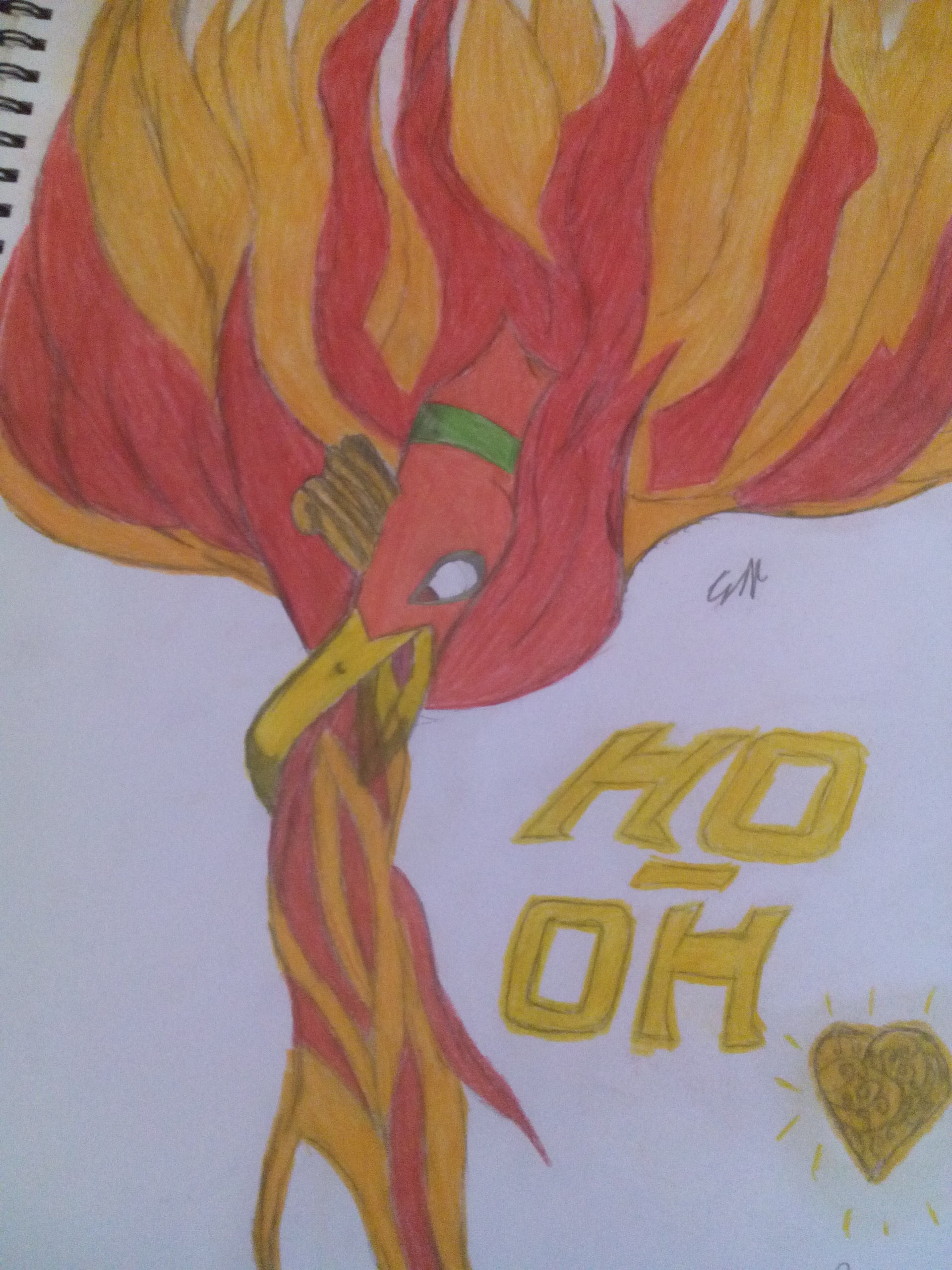 Ho-Oh from pokemon heart gold