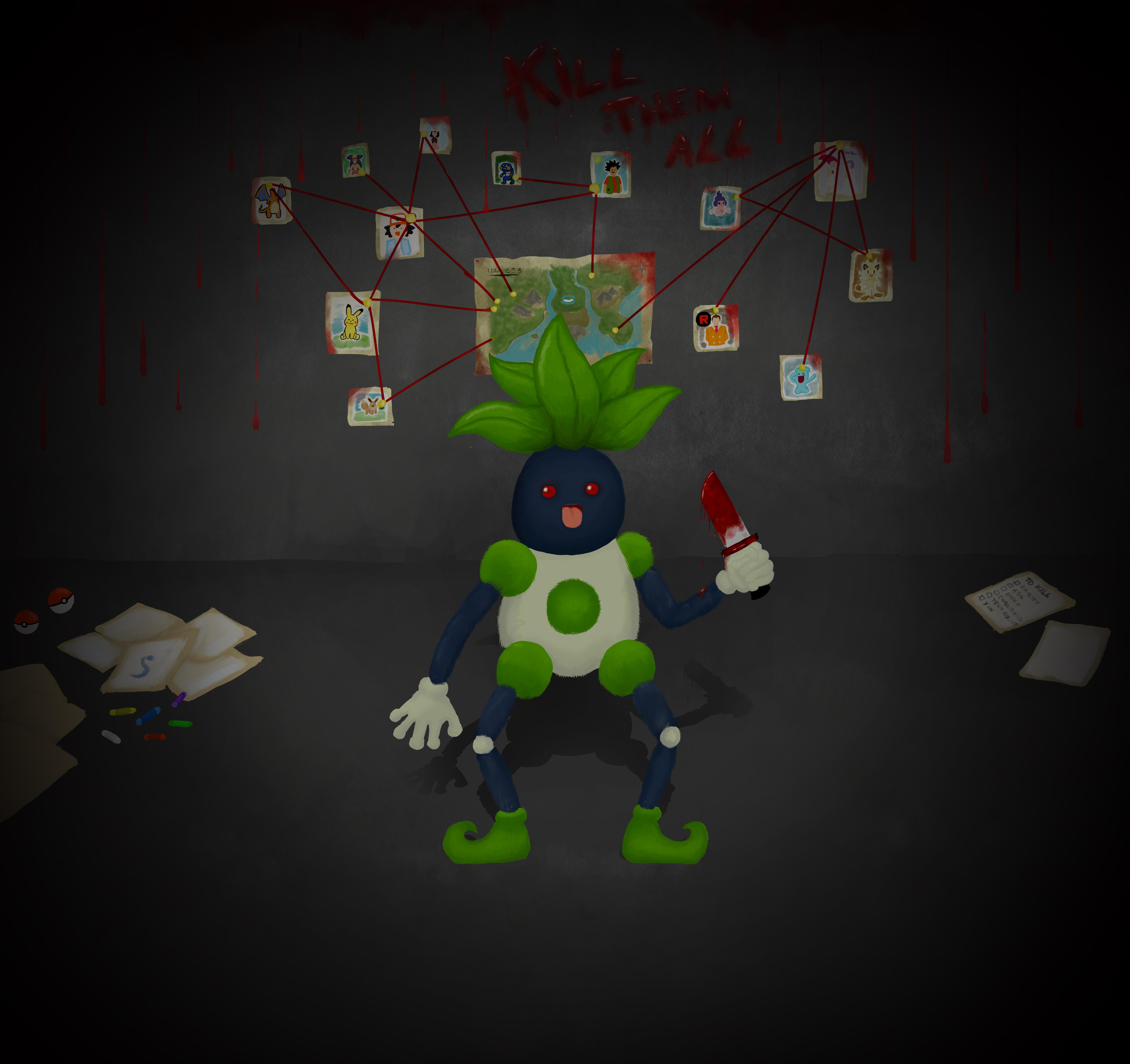 Mr. Mime + Oddish = Mr. Odd