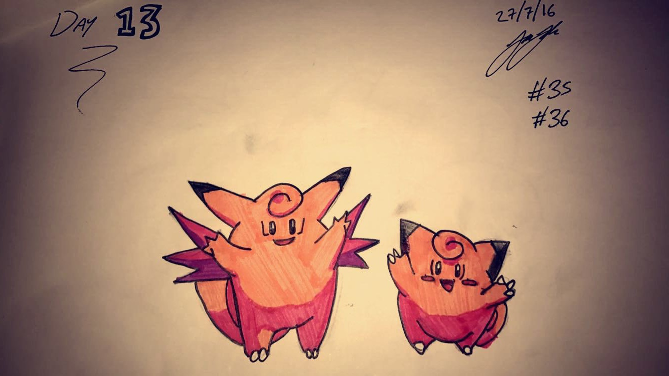 #35 Clefairy #36 Clefable
