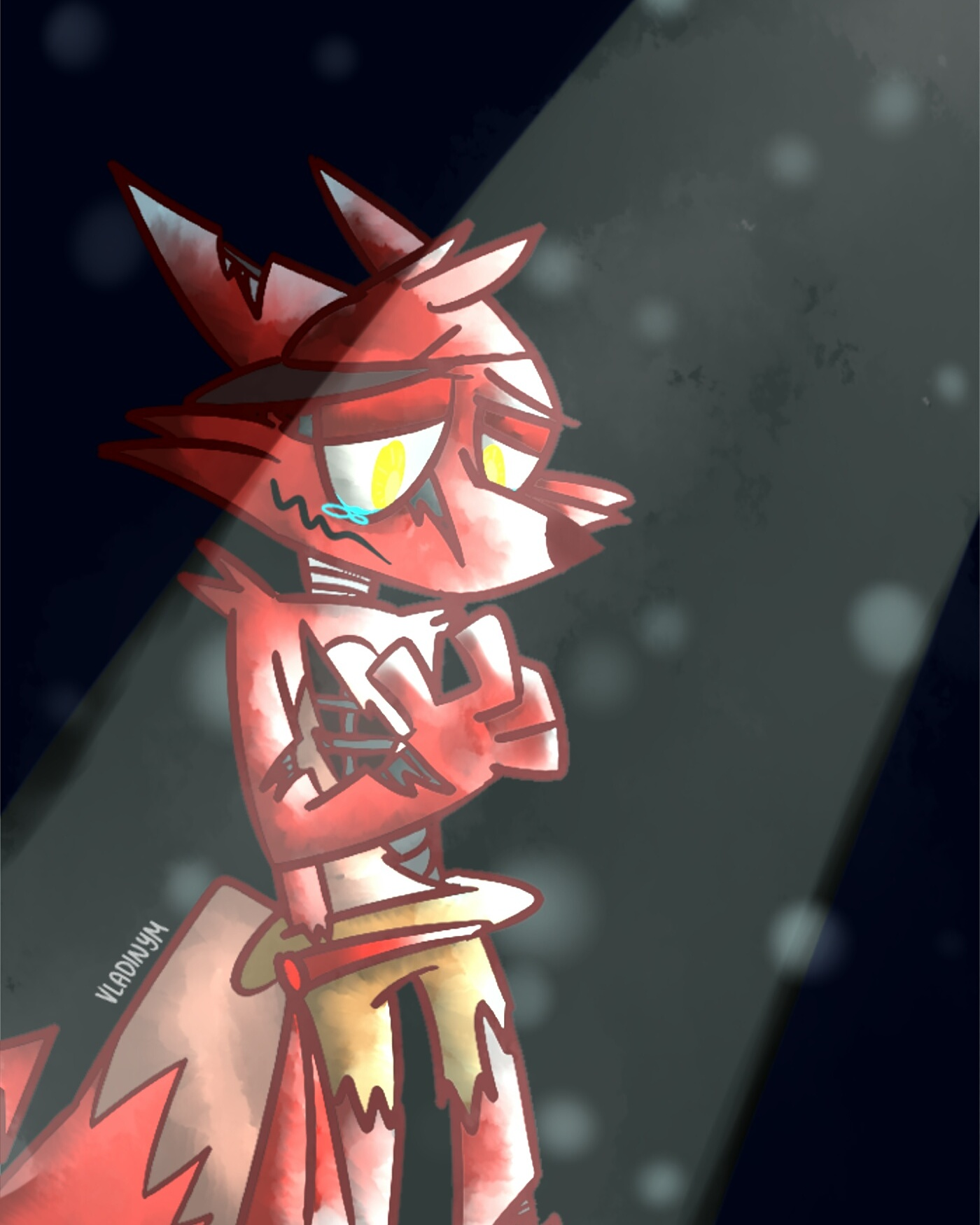Foxy! Never mind the scars