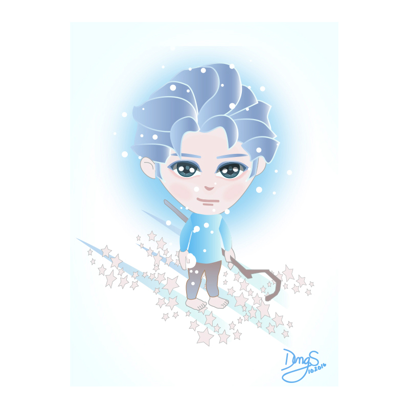 JACK FROST CHARACTER DESIGN FOR A GAME APP