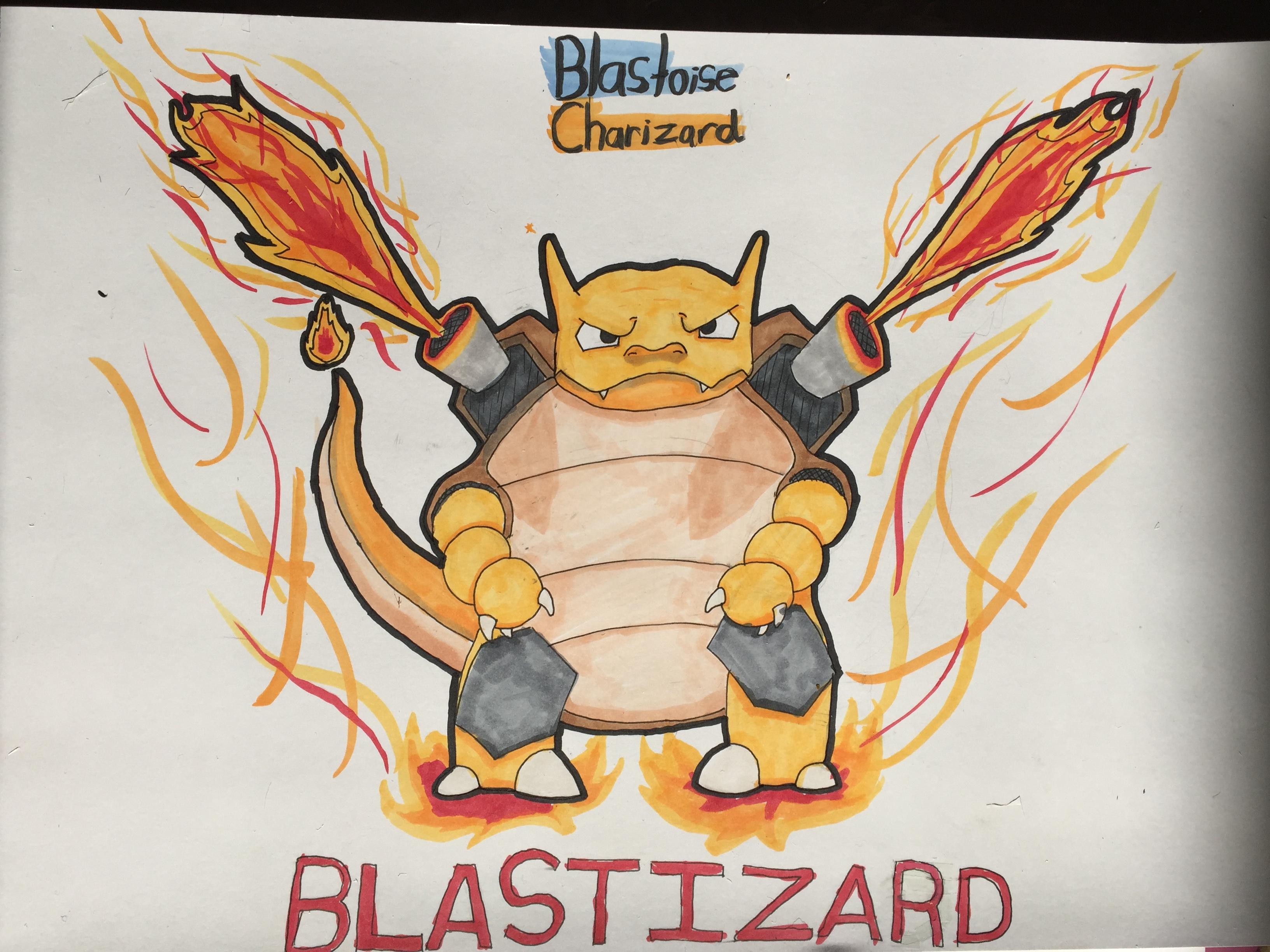 Blastoise...? Charizard...?... BLASTIZARD