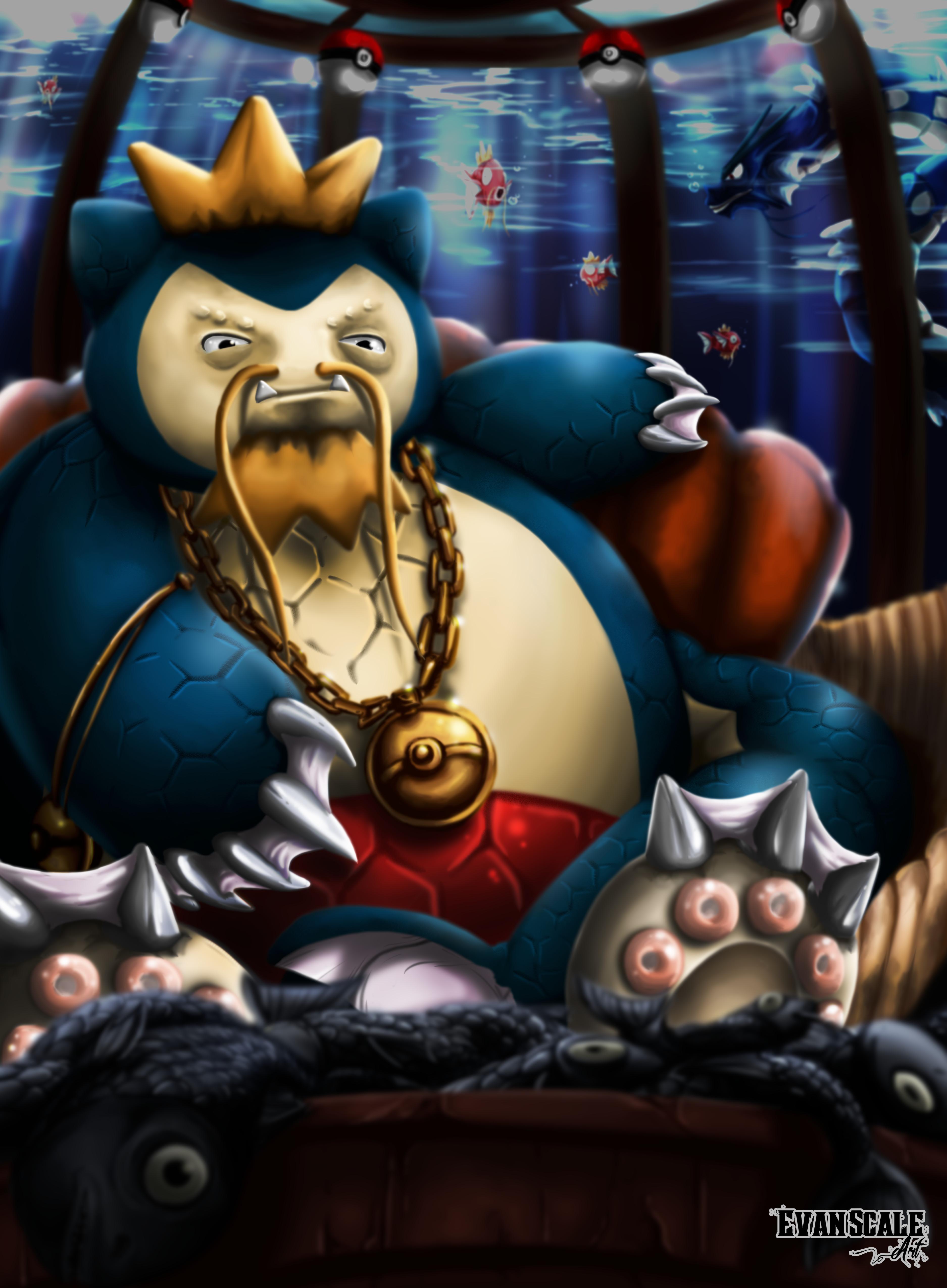 King Magirlax of the Deep (Magikarp+Snorlax)