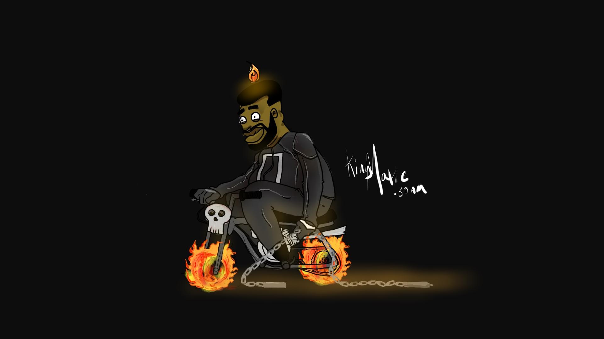 Ghost Rider   Peasant Mario Mash up Drawing