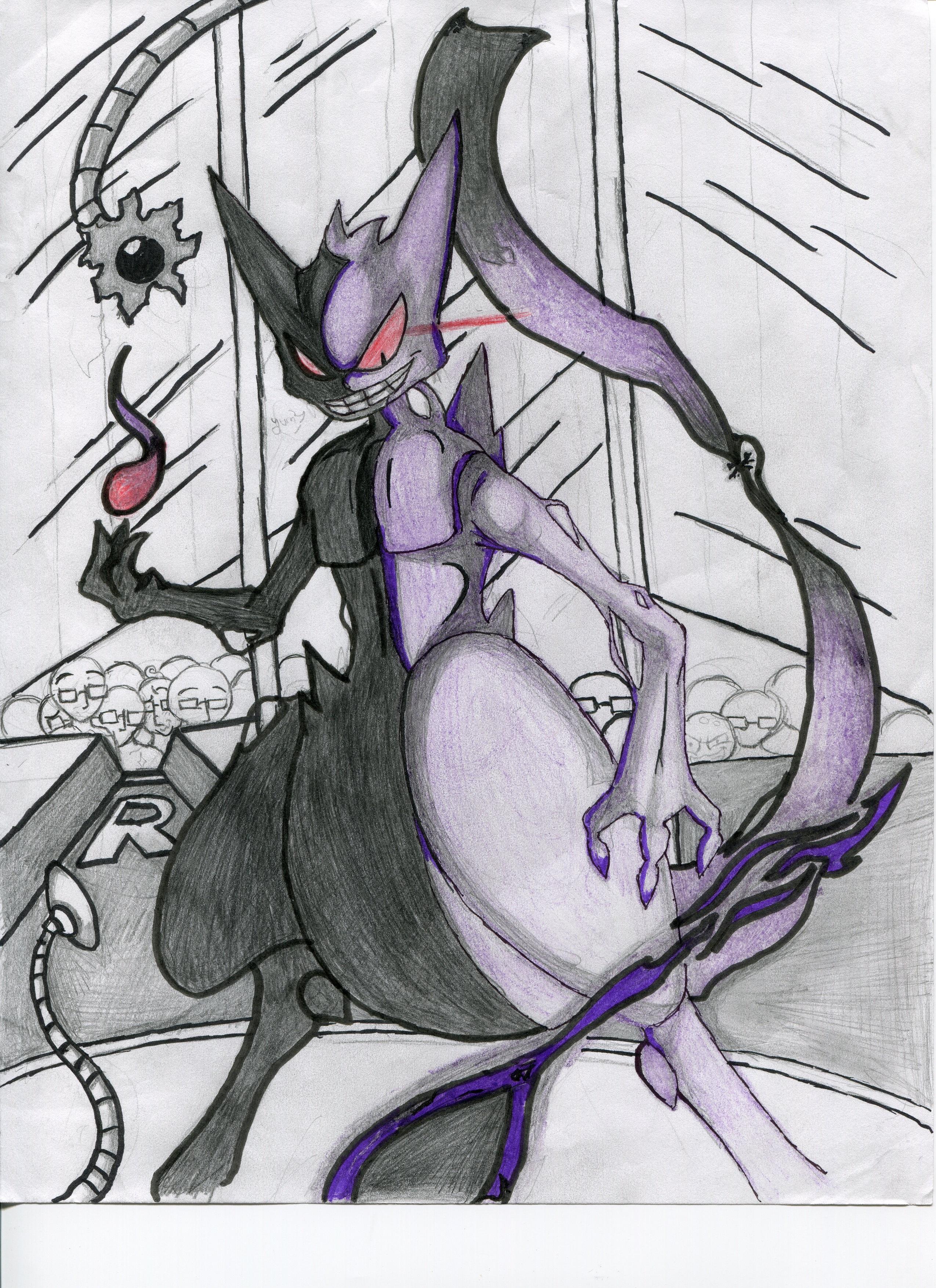 Drawing with Jazza PRELIMINARY sketch for PokeMashupChallnge