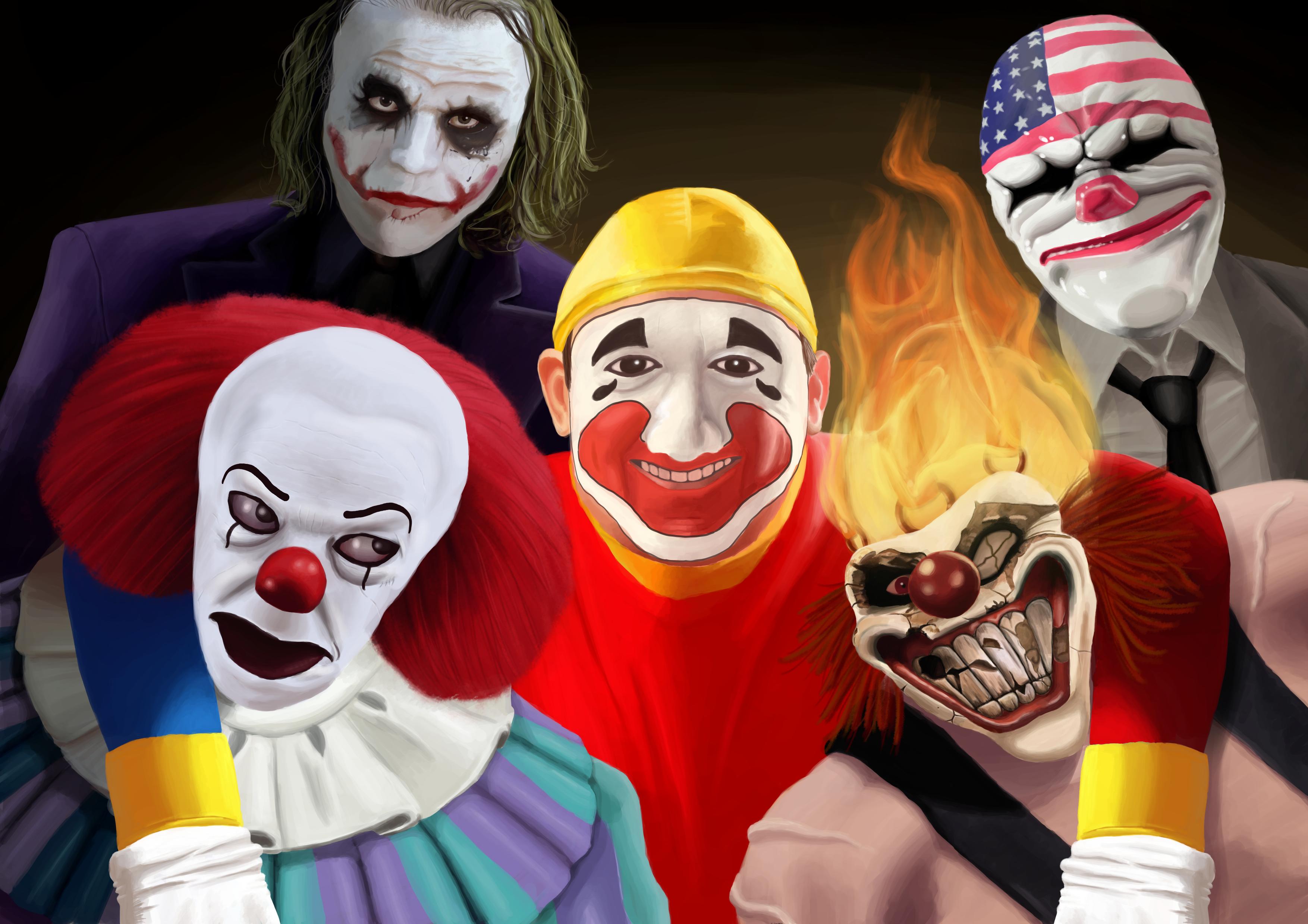 A bunch of psycho clowns