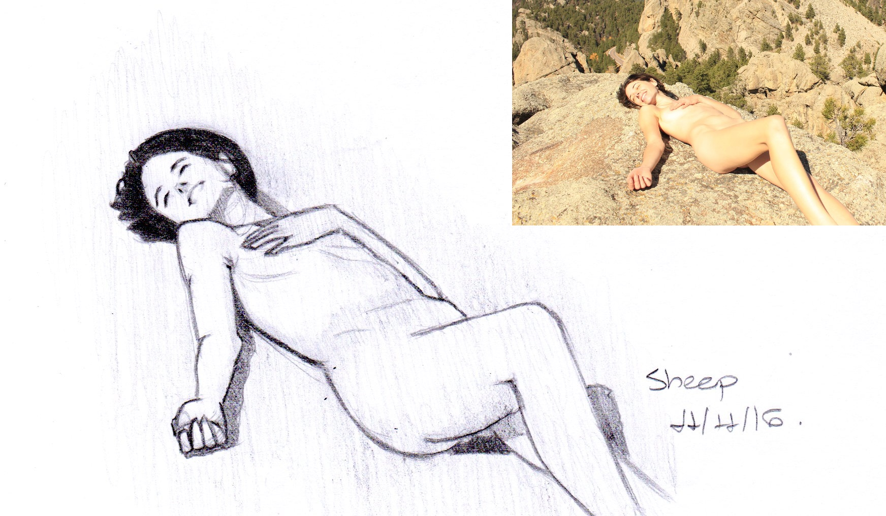 RGD - Lying naked on a mountain top