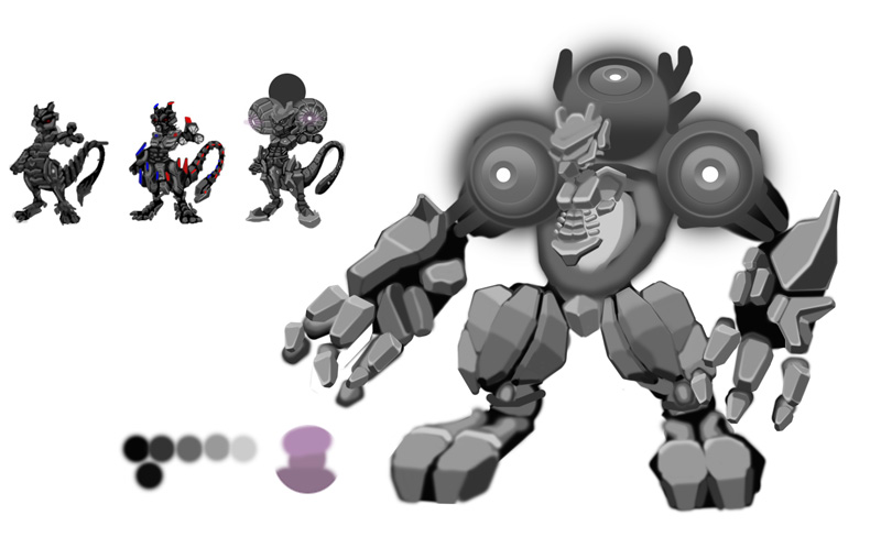 Mewtwo and magneton WIP