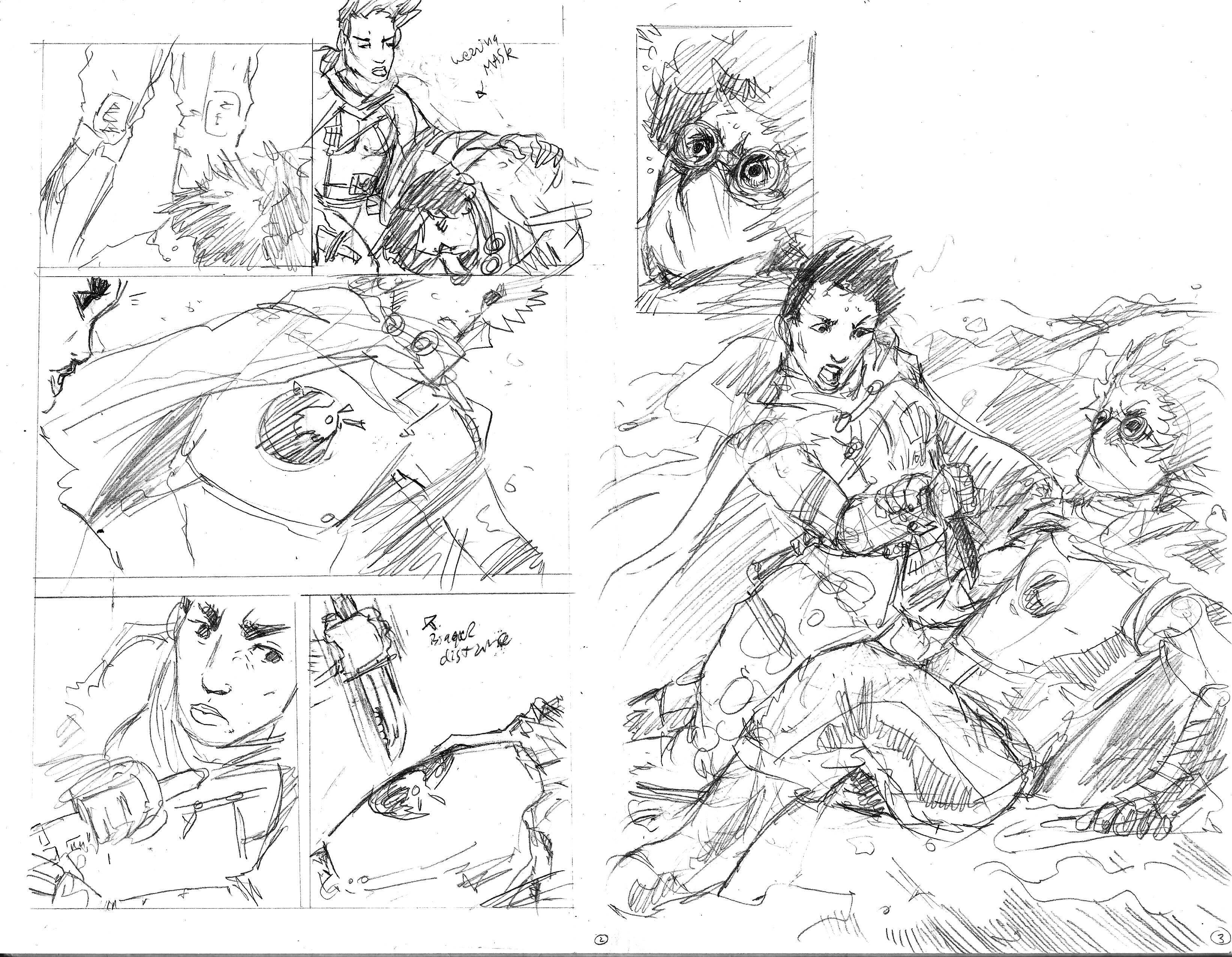 Pencil Pages 2 and 3