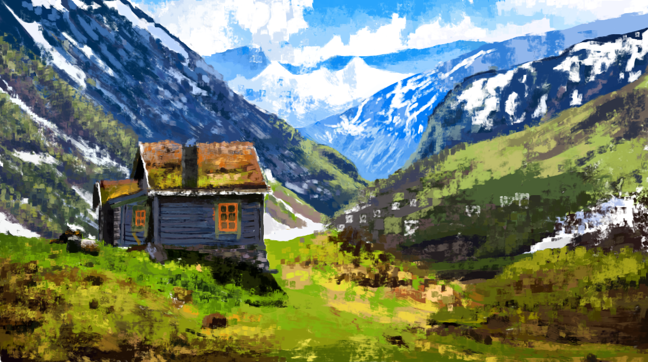 Cottage by the Mountains