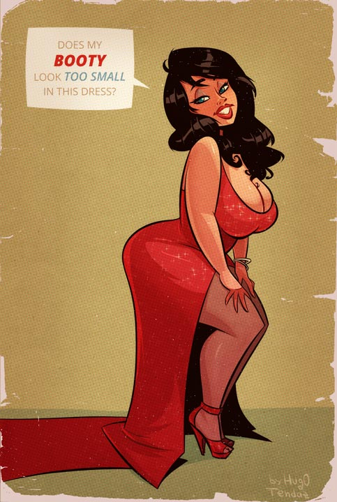 The Big Question - Cartoon PinUp