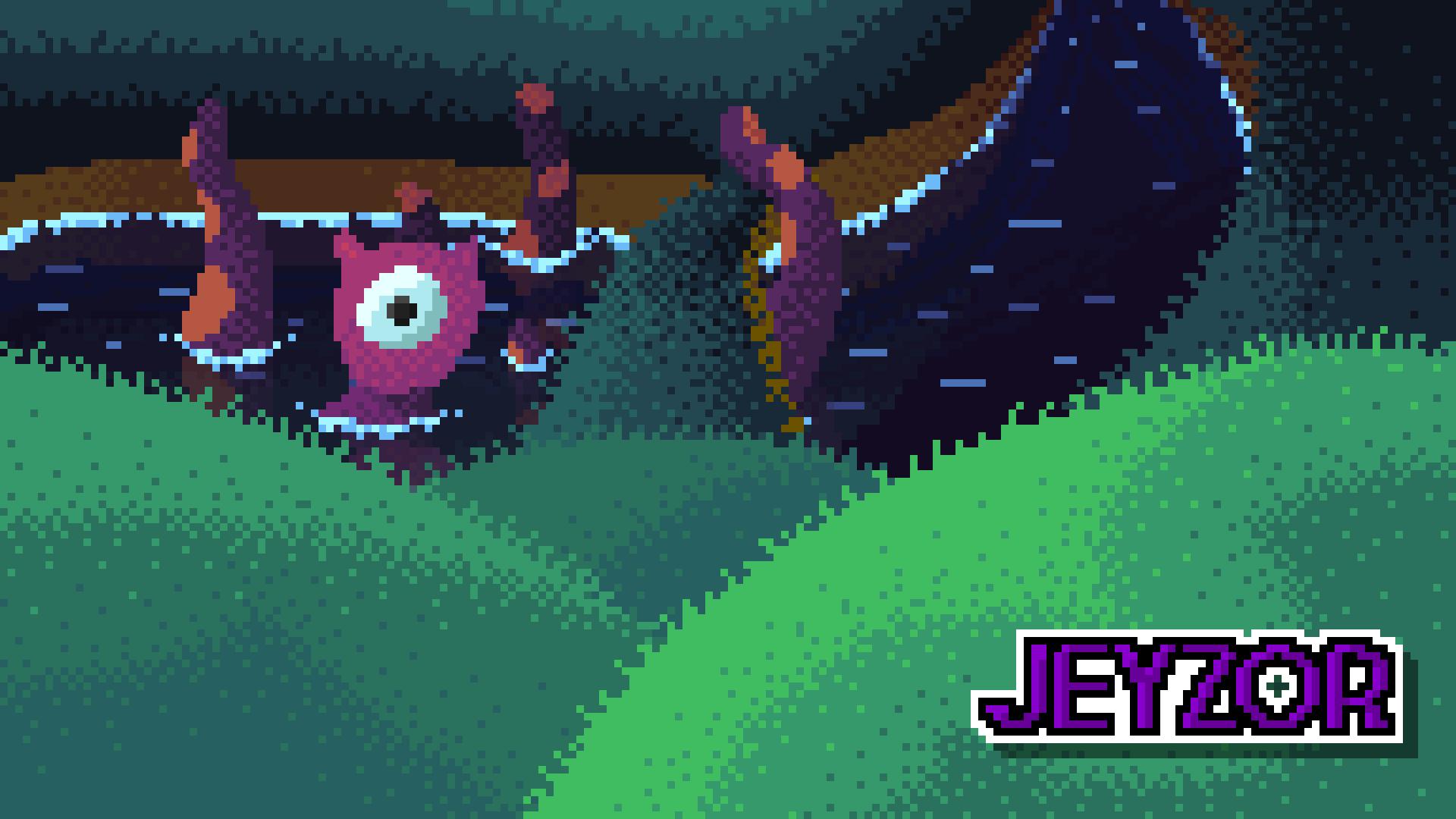 Water Monster pixel art [wallpaper]