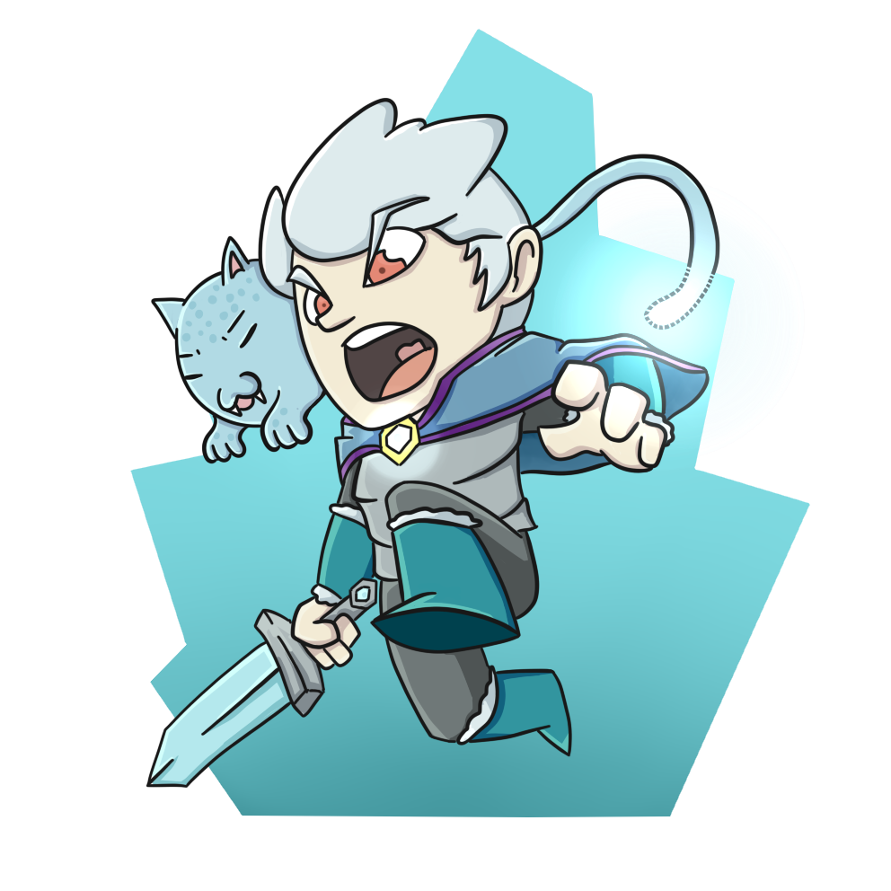 The Ice Prince and his Seal Cat!