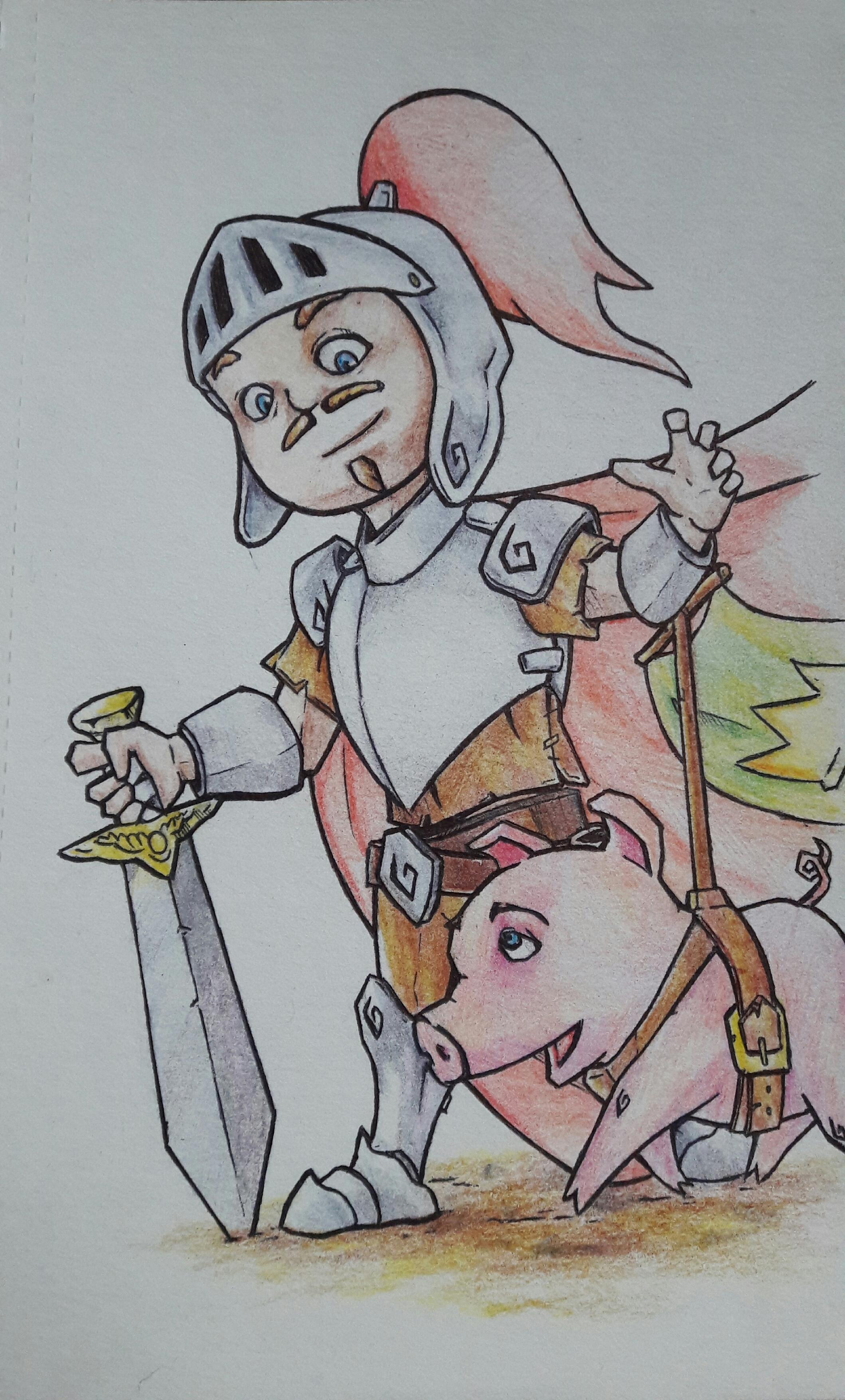A knight's pet