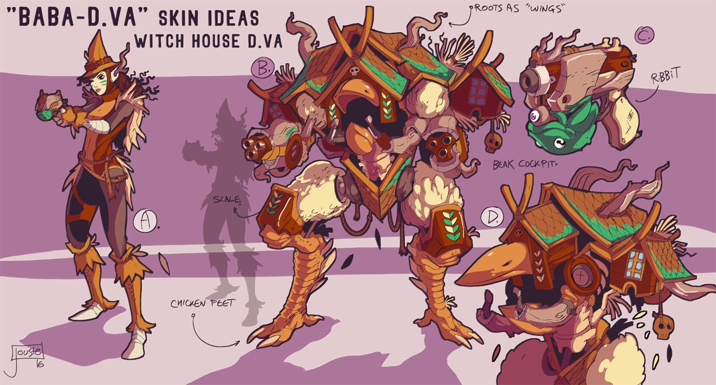 Baba-D.va or D.va-Yaga Overwatch skin idea