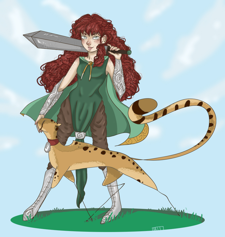 Knight and her pet cheetah