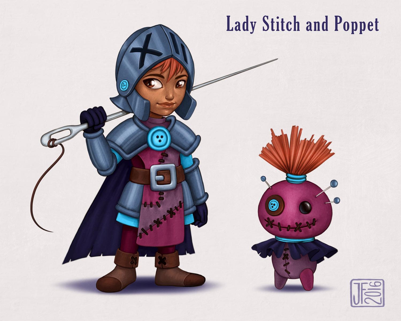 Lady Stitch and Poppet