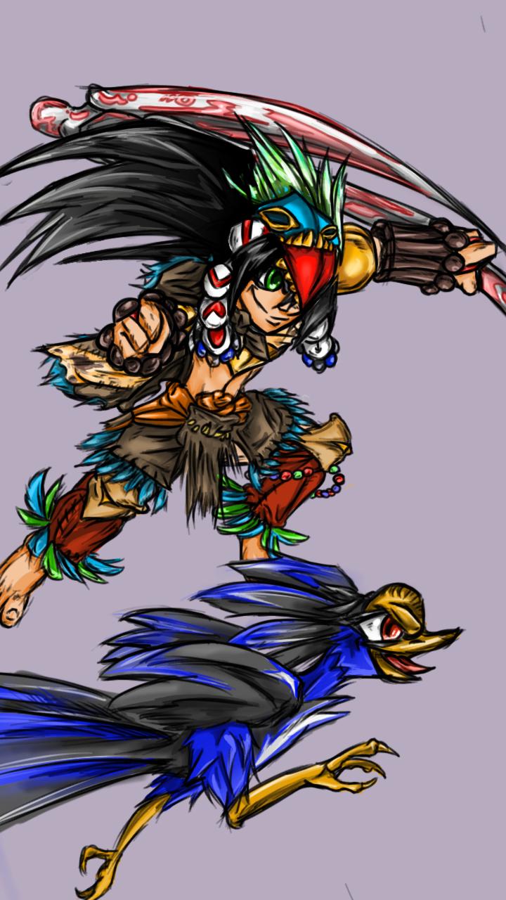 Indigenous Australian knight!!! (Non stop knight character desgine contest)