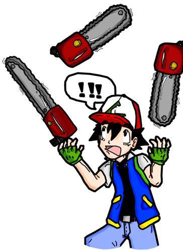 Ash Juggling Chainsaws